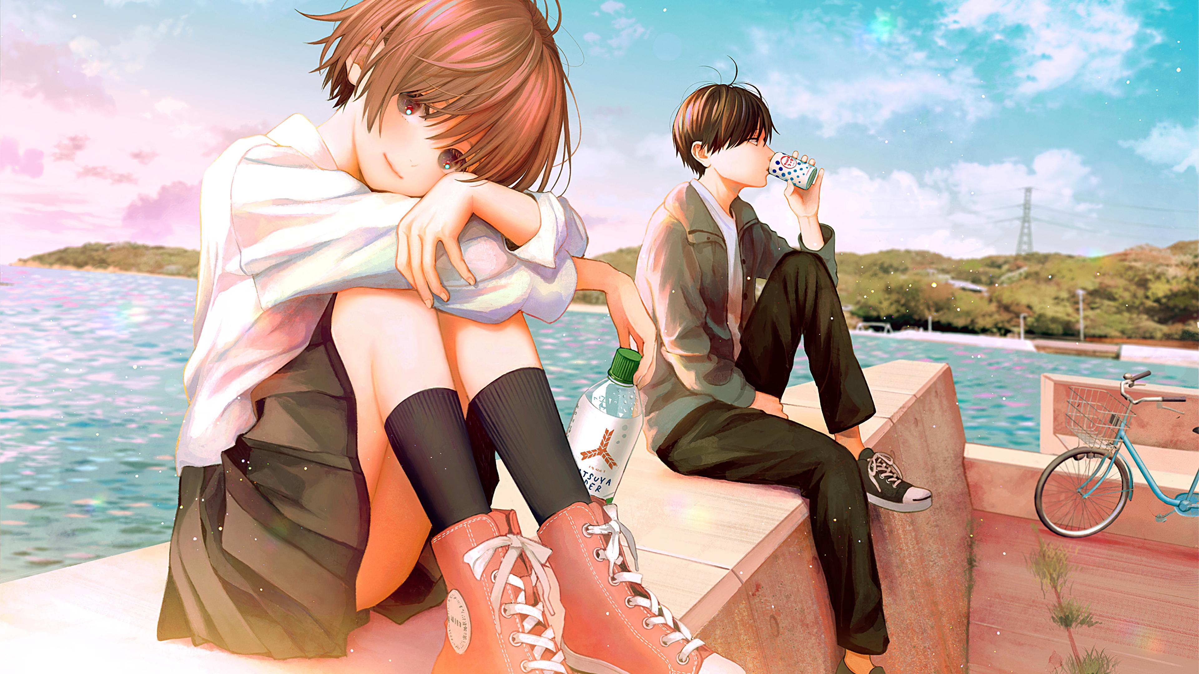 3840x2160 Teenage Anime Couple School Dress 4k 4k HD 4k ...