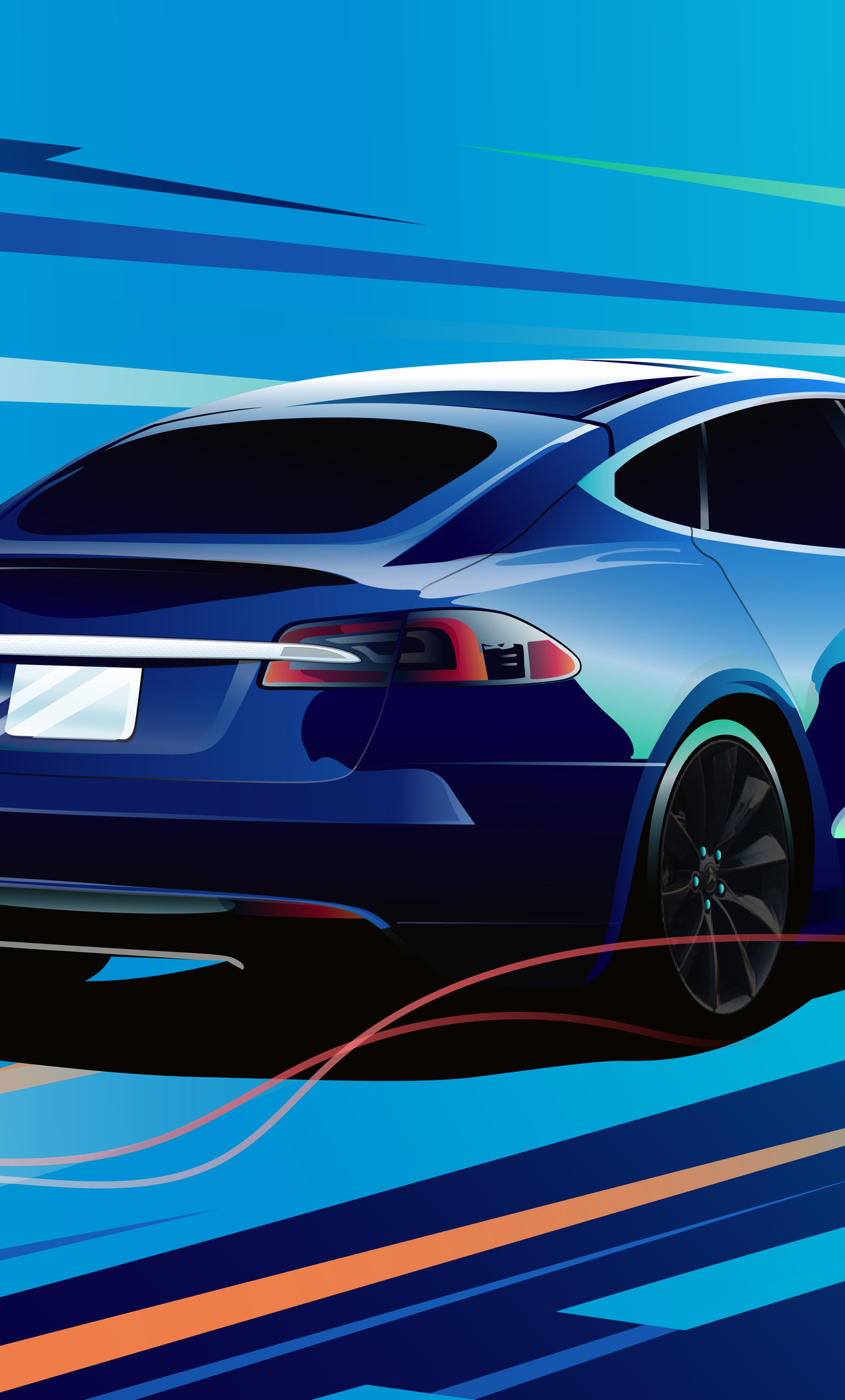 1280x2120 Tesla Model S Iphone 6 Hd 4k Wallpapers Images