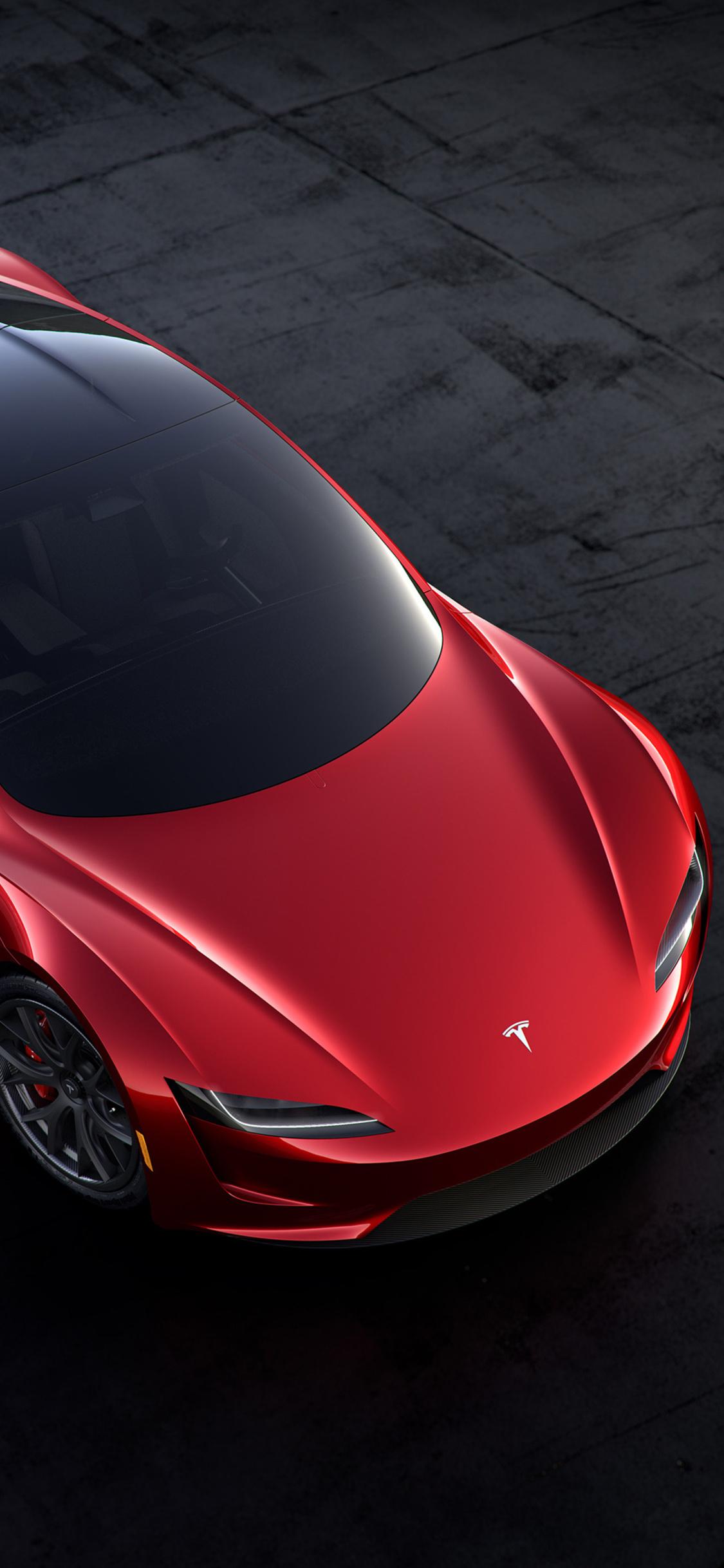 Supercars Gallery Tesla Roadster Iphone Wallpaper