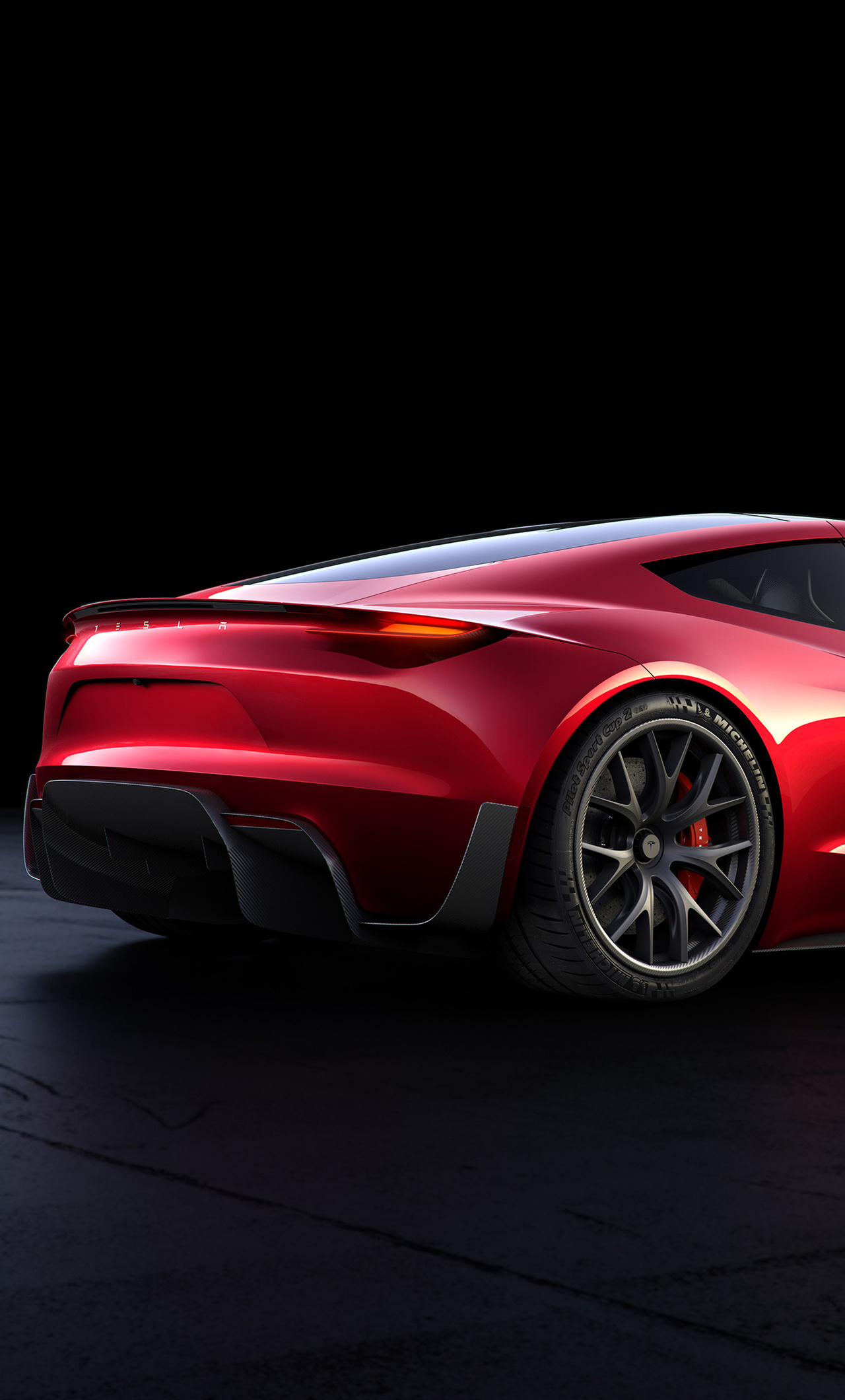 1280x2120 tesla roadster rear look iphone 6 hd 4k wallpapers images backgrounds photos and - Tesla wallpaper android ...