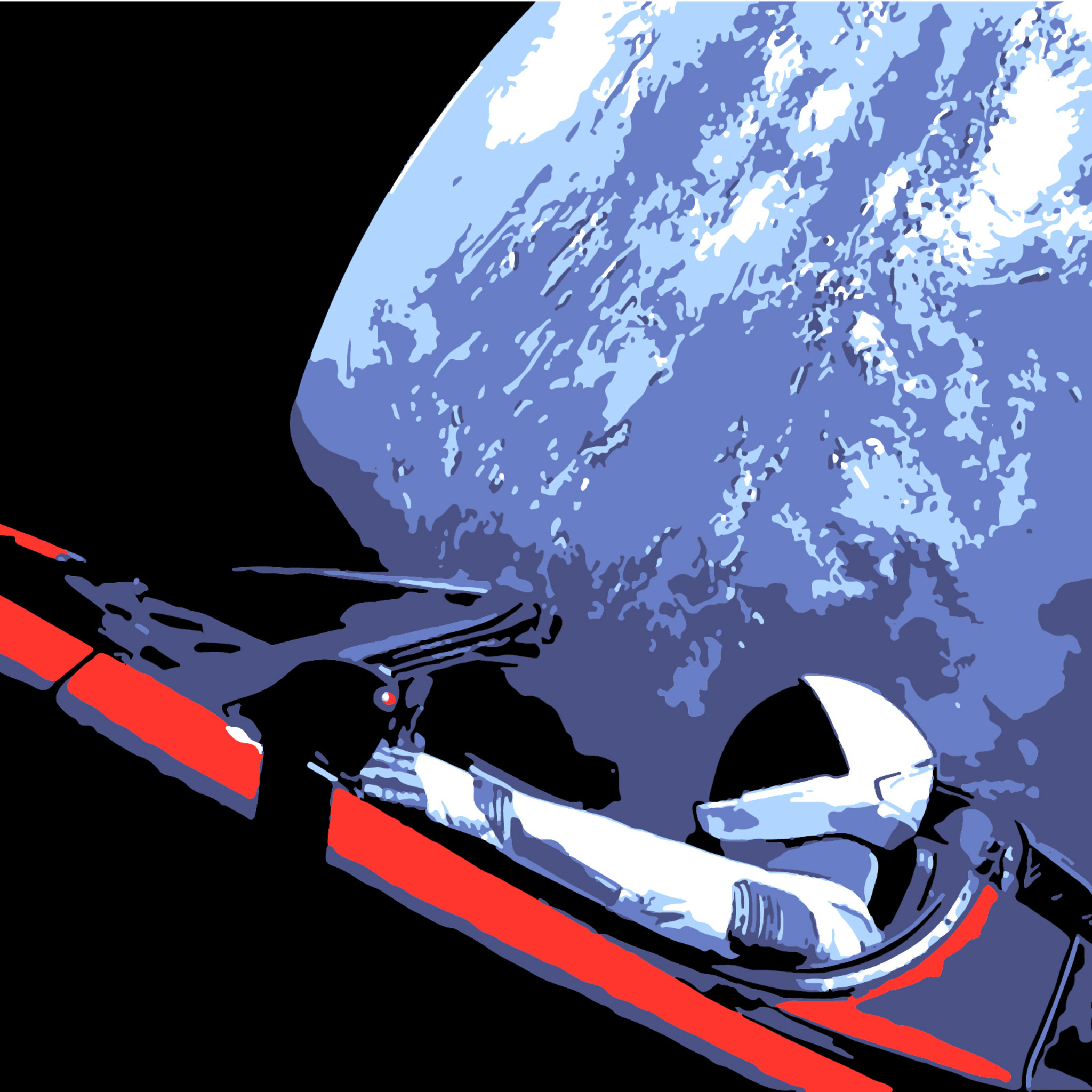 2048x2048 Tesla Roadster Space X Ipad Air HD 4k Wallpapers