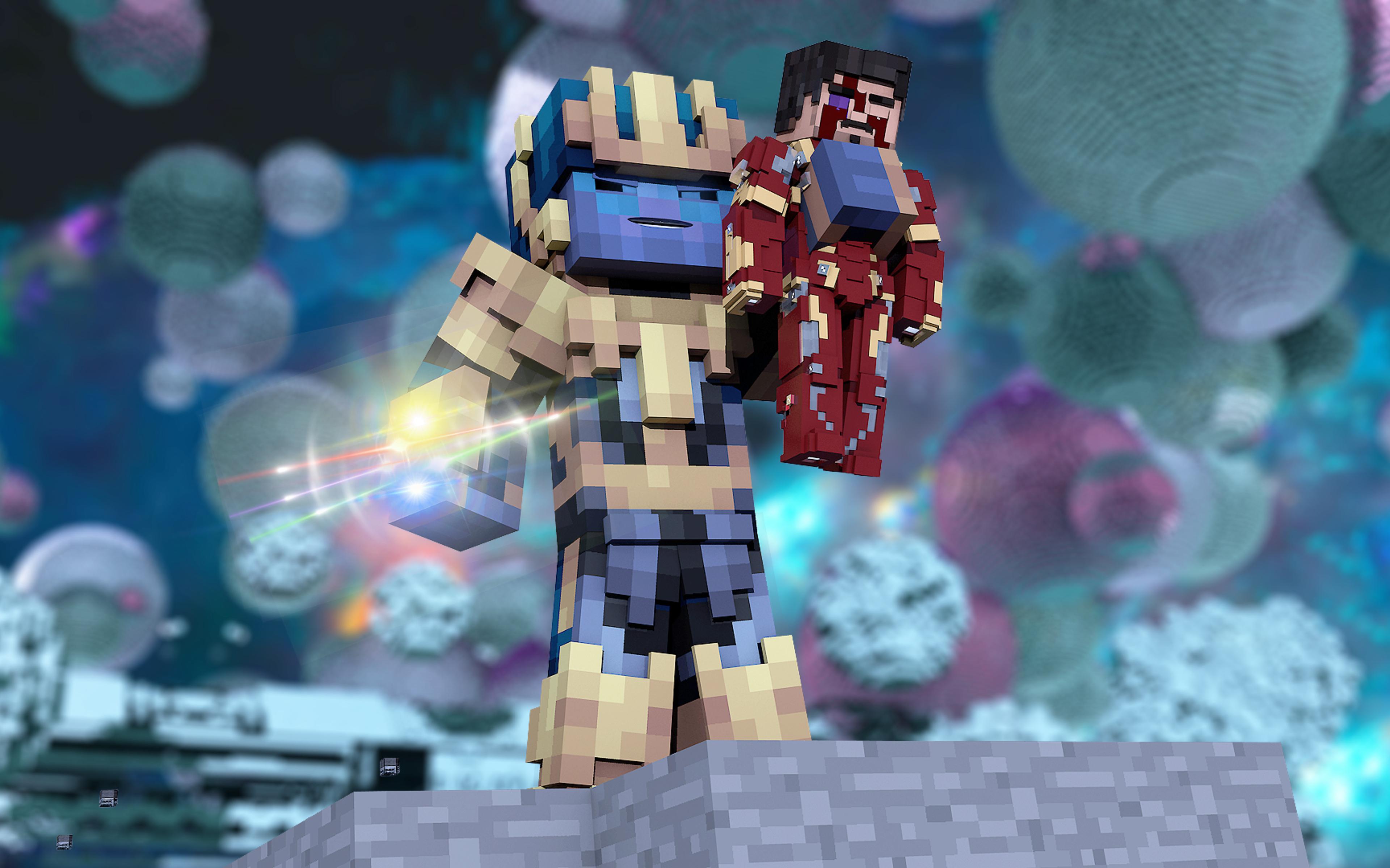 3840x2400 Thanos And Iron Man Lego Artwork 4k Hd 4k Wallpapers