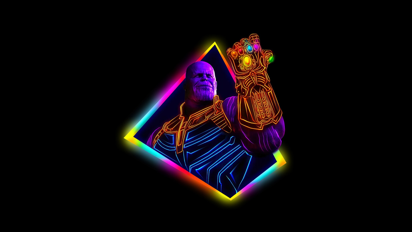 1366x768 Thanos Avengers Infinity War 80s Style Artwork 1366x768