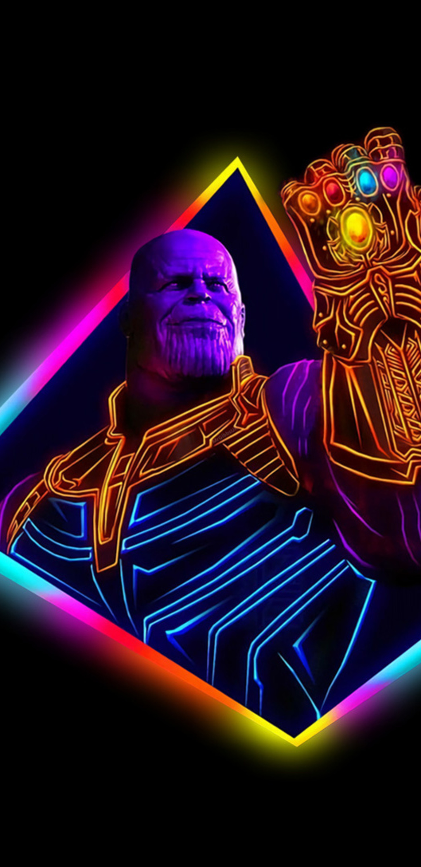 1440x2960 Thanos Avengers Infinity War 80s Style Artwork Samsung