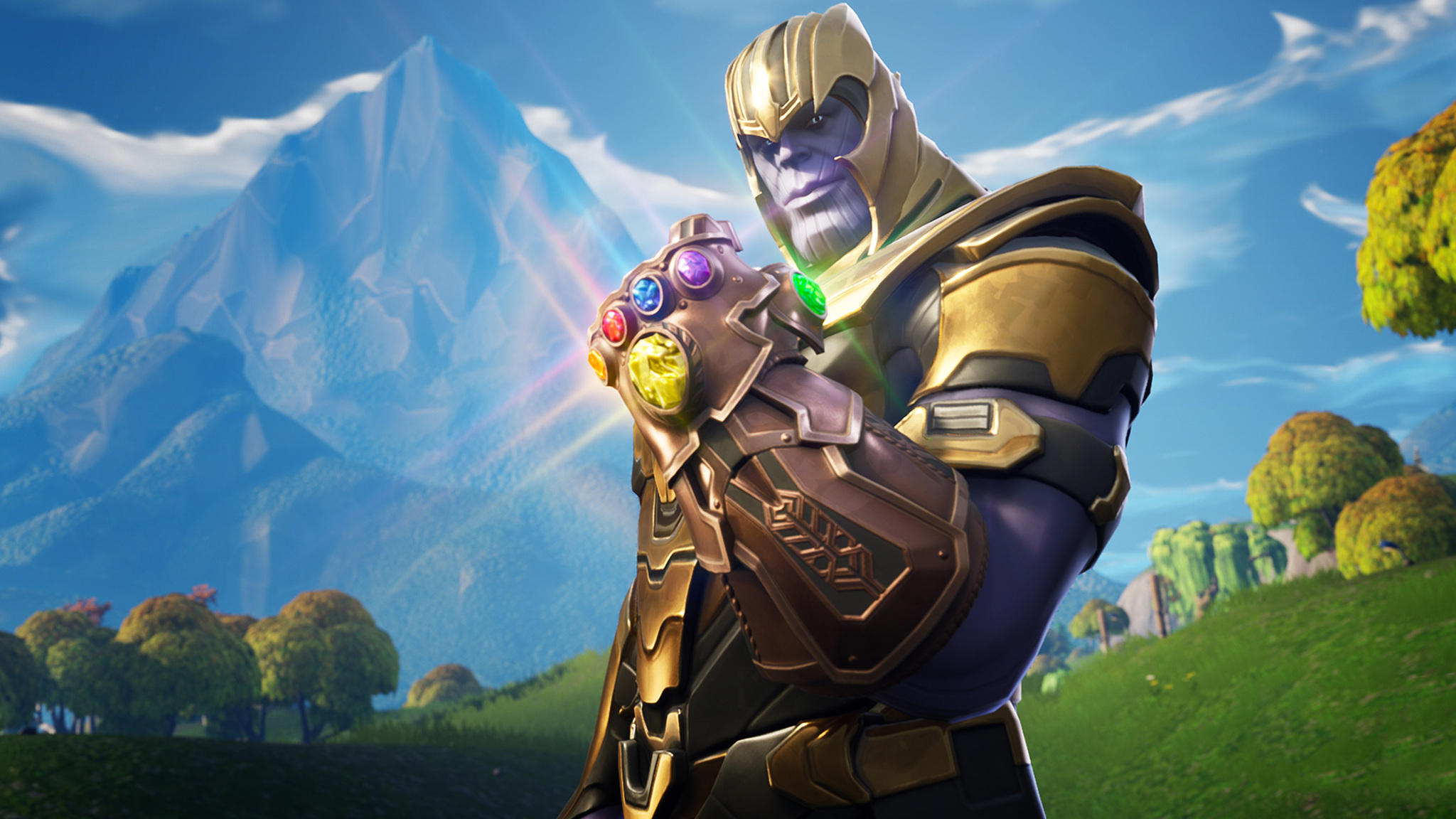 2048x1152 Thanos In Fortnite Battle Royale 2048x1152