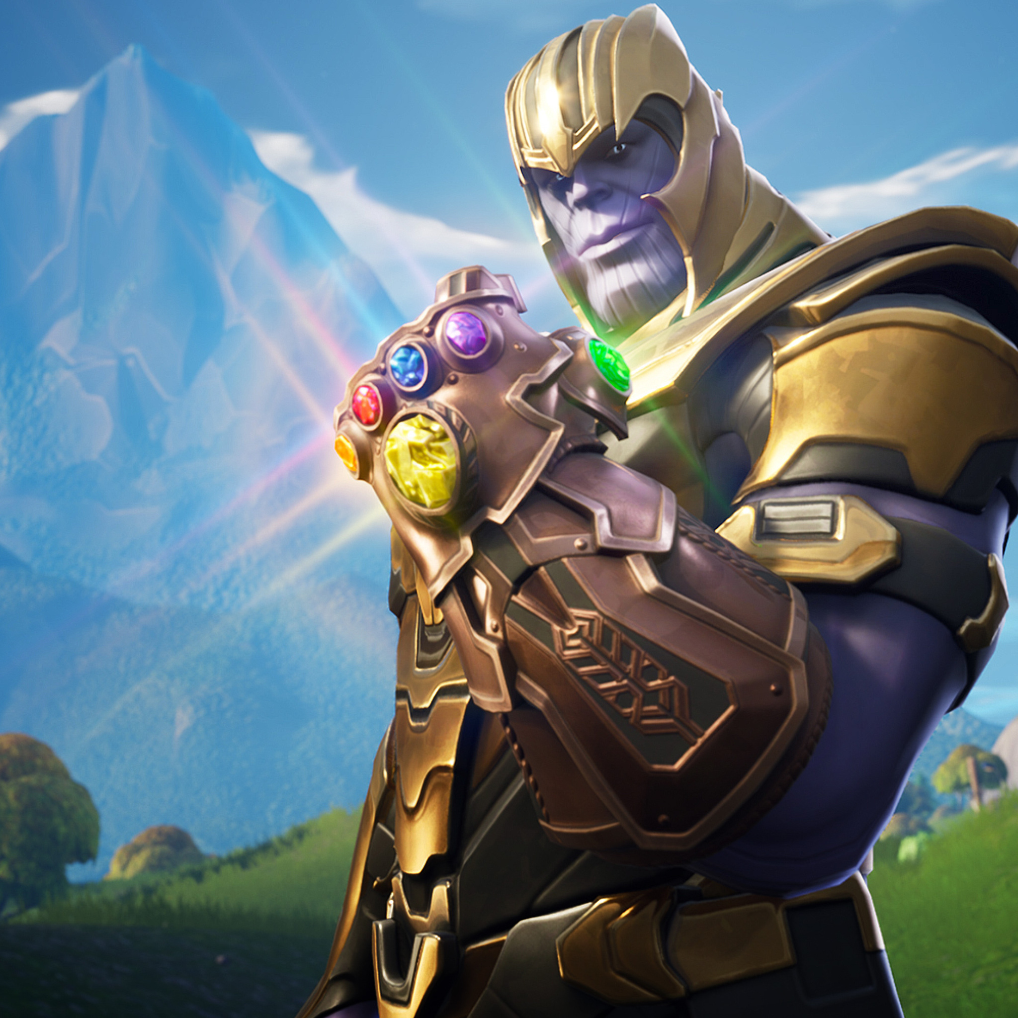 2048x2048 Thanos In Fortnite Battle Royale Ipad Air Hd 4k Wallpapers