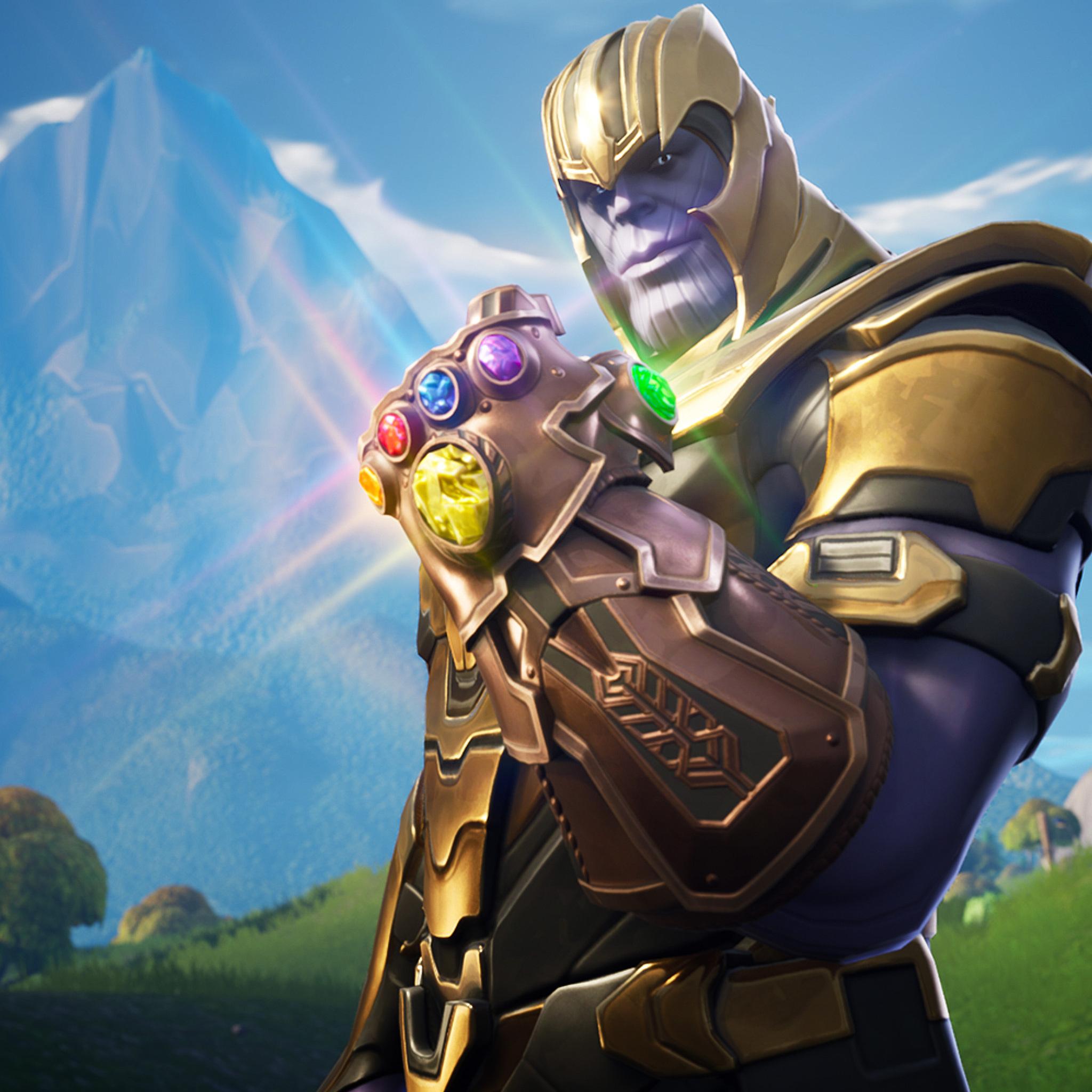 2048x2048 Thanos In Fortnite Battle Royale Ipad Air HD 4k