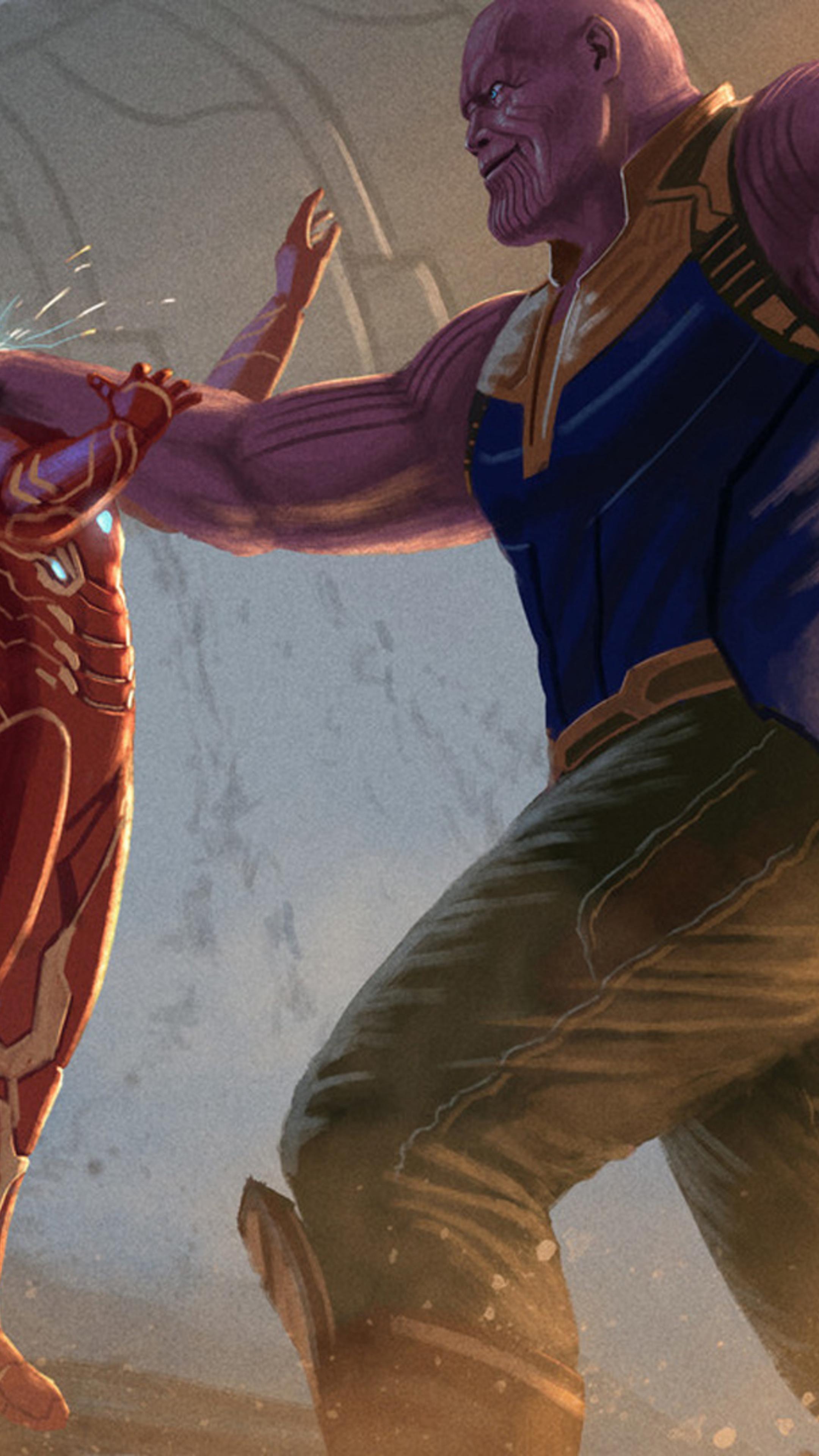2160x3840 thanos iron man avengers infinity war 2018 - Art wallpaper 2160x3840 ...