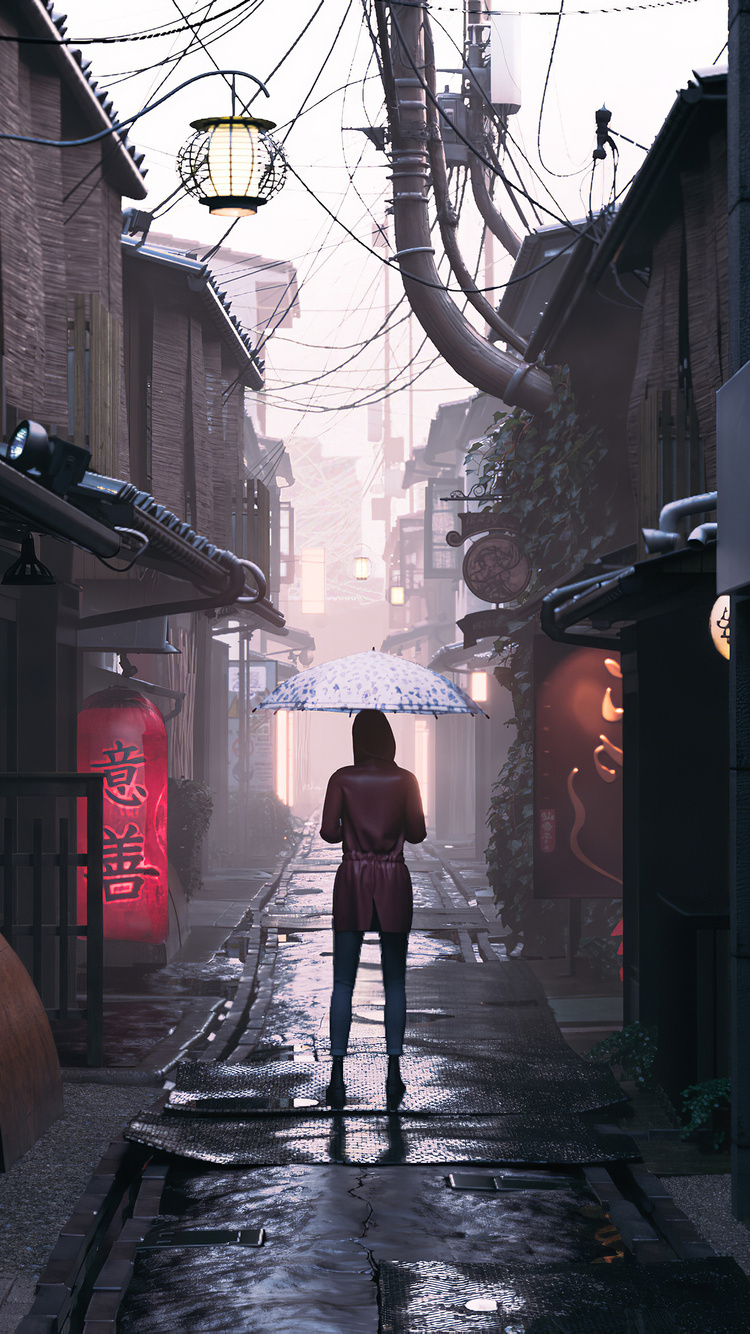 750x1334 The Alley Iphone 6 Iphone 6s Iphone 7 Hd 4k