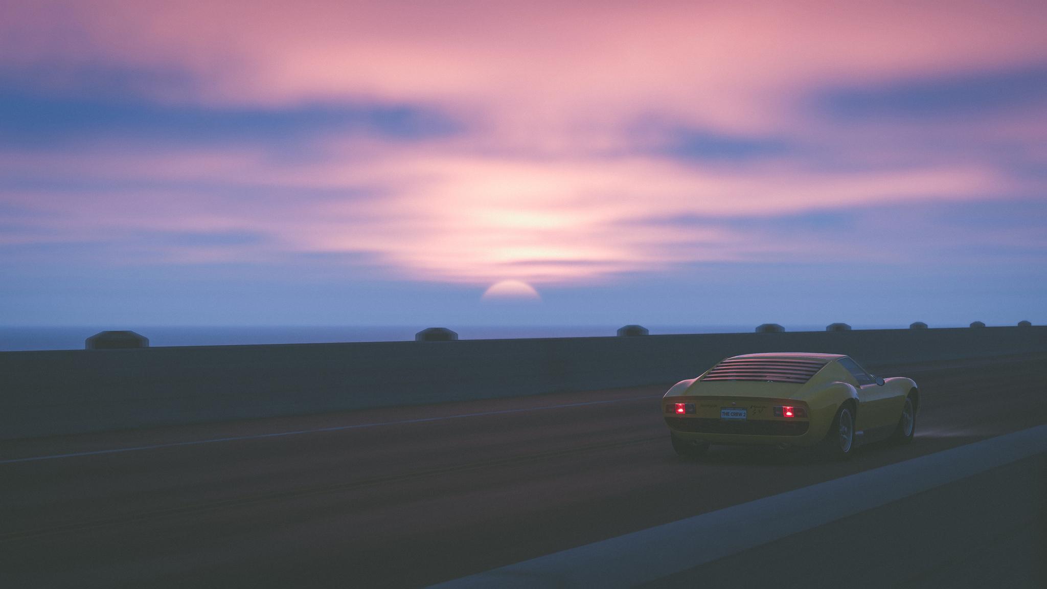 2048x1152 The Crew 2 Lamborghini Miura SV 4k 2048x1152 Resolution HD