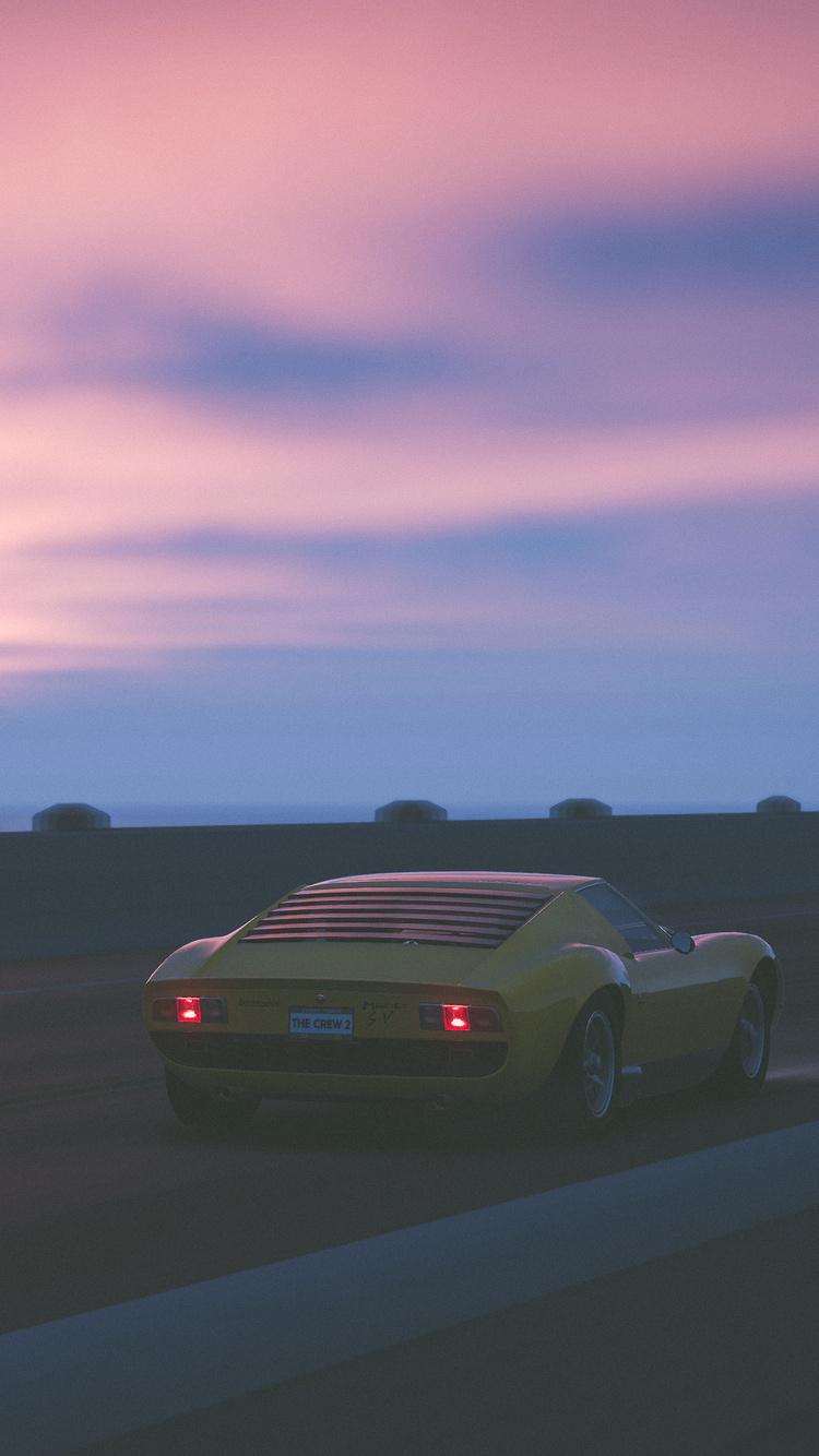 750x1334 The Crew 2 Lamborghini Miura Sv 4k Iphone 6 Iphone 6s