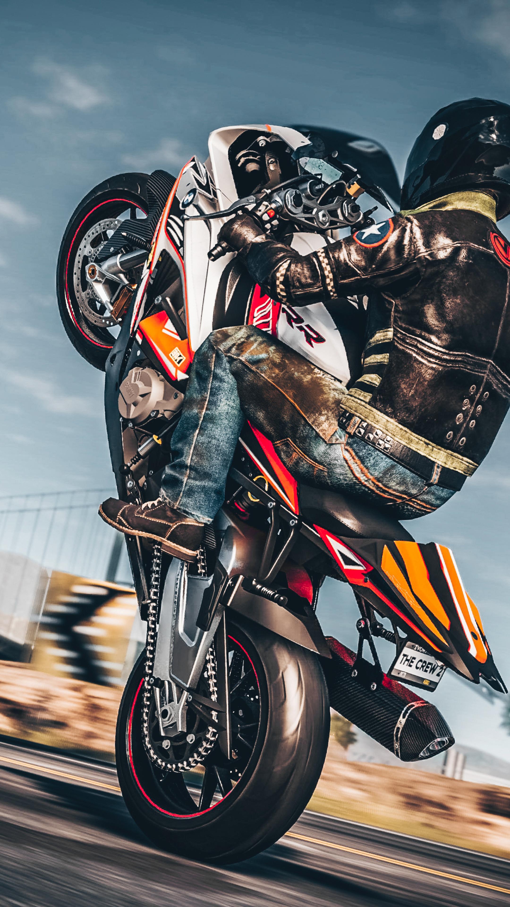 2160x3840 The Crew 2 Wheelie On Bike 4k Sony Xperia X Xz Z5