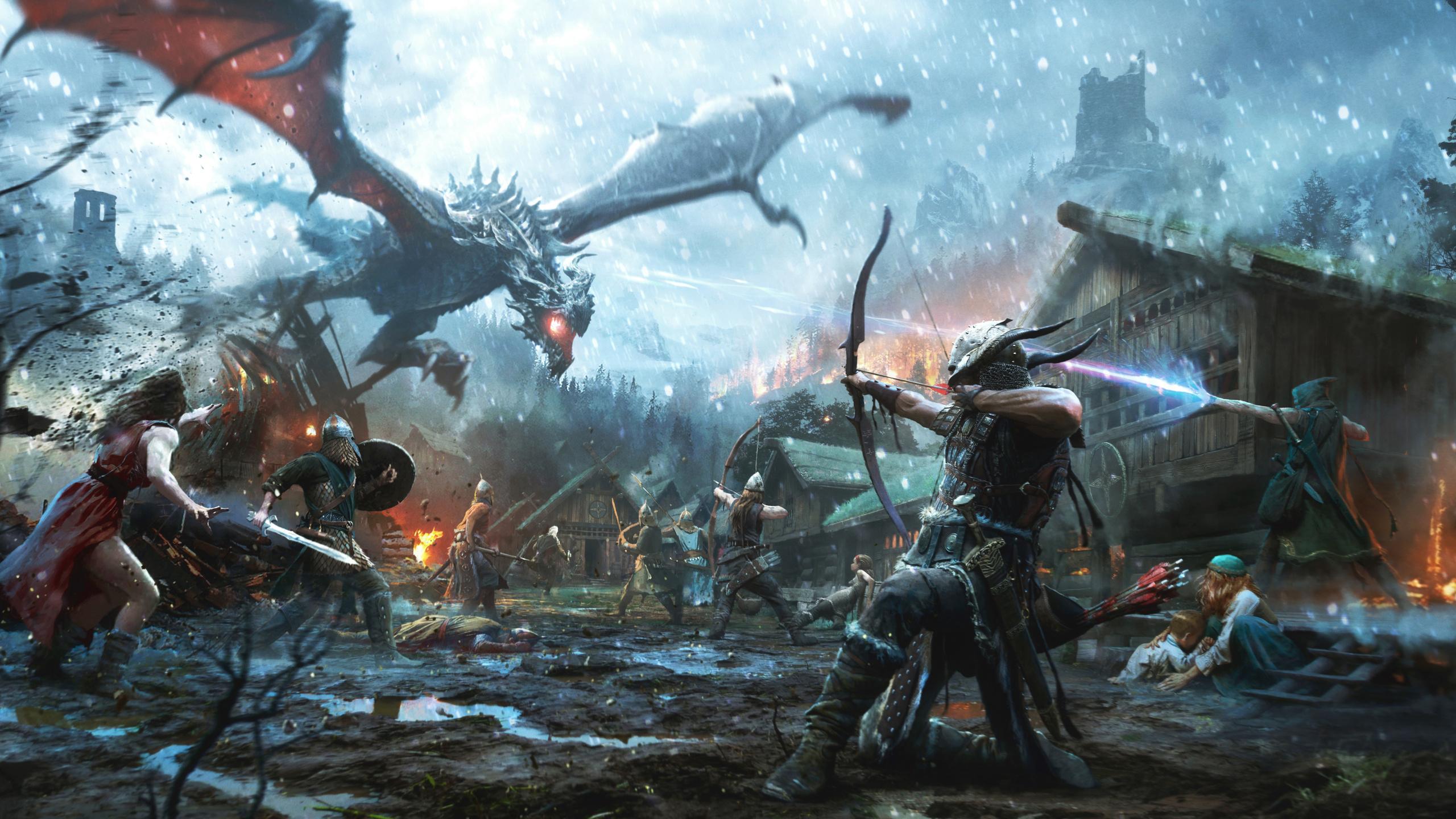 2560x1440 The Elder Scrolls Video Game 4k 1440p Resolution