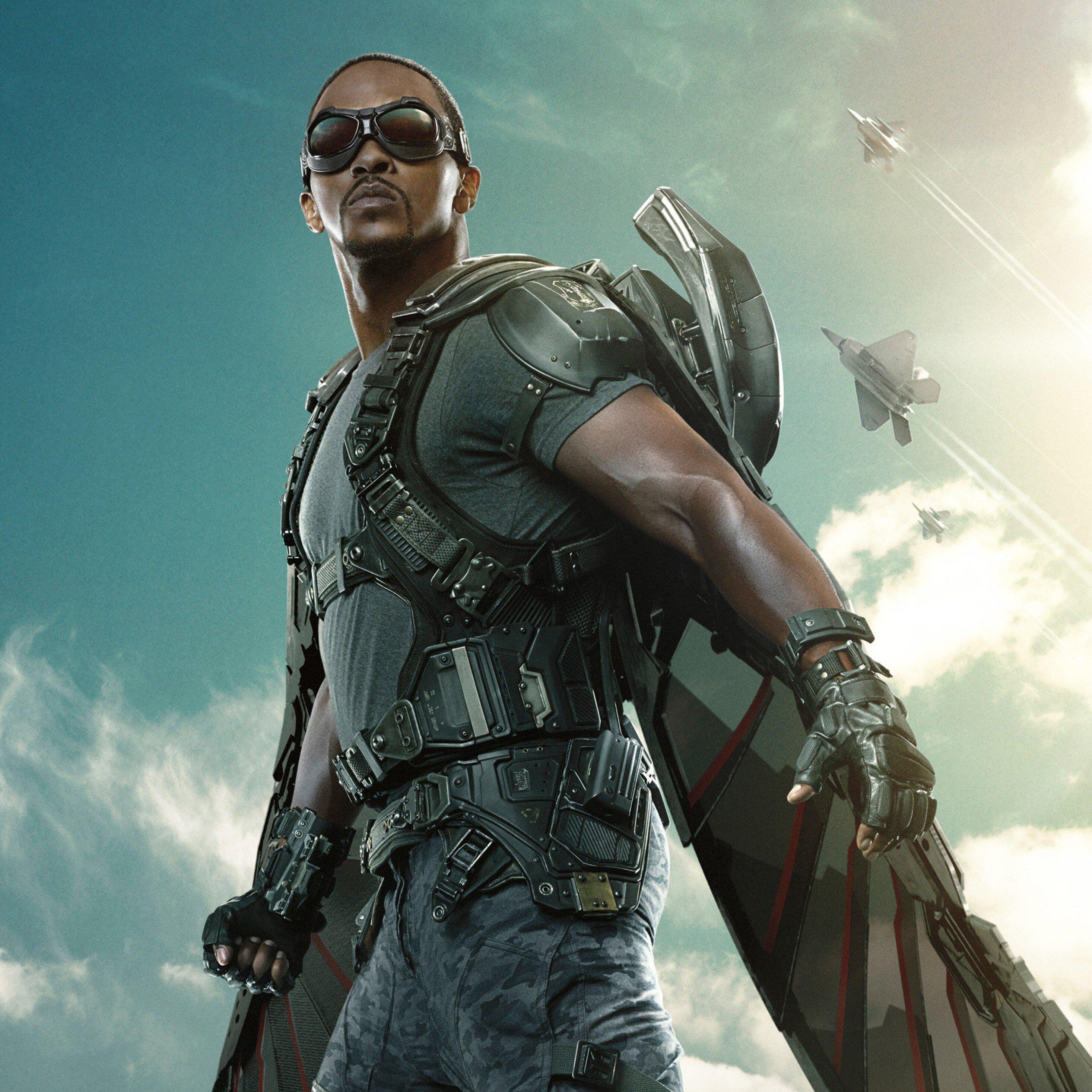 2932x2932 The Falcon Captain America The Winter Soldier ...