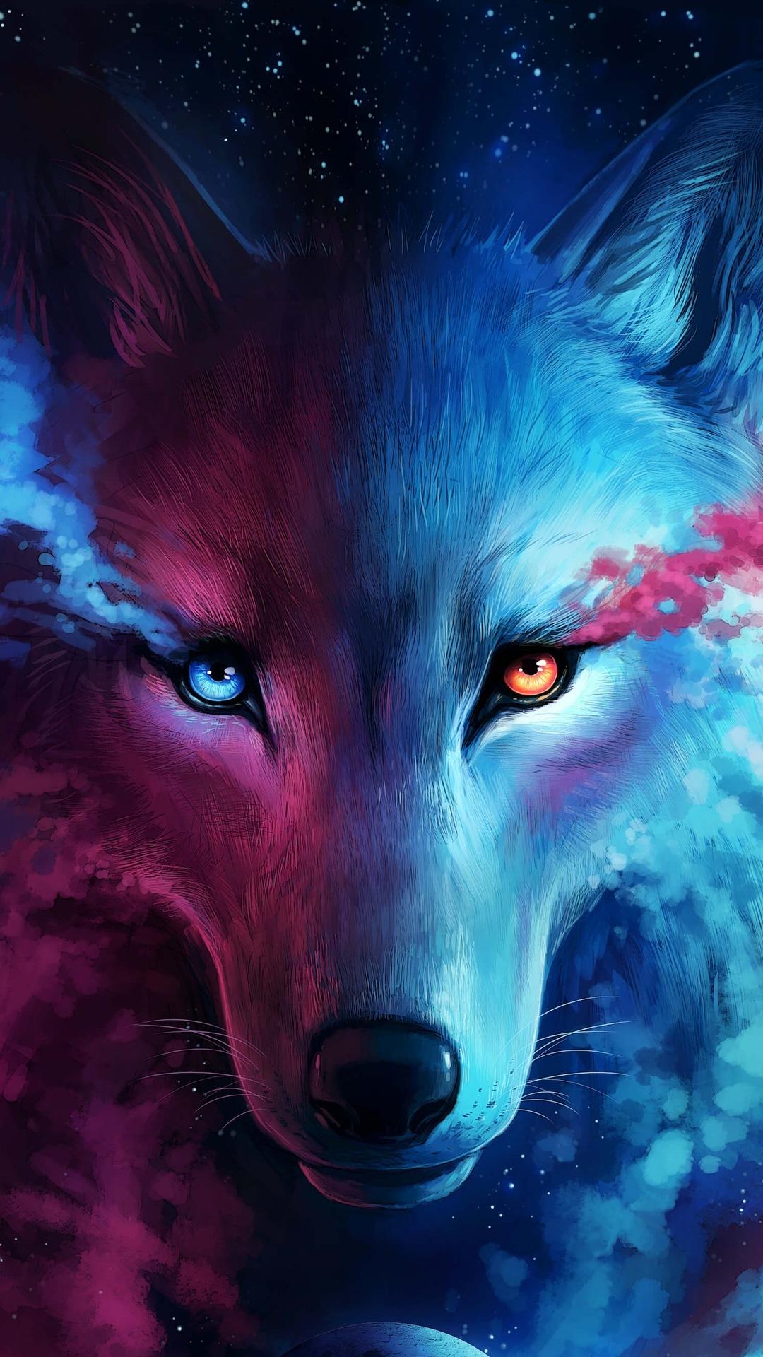 Galaxy Wolf Wallpaper Iphone Best Wallpaper Foto In 2019