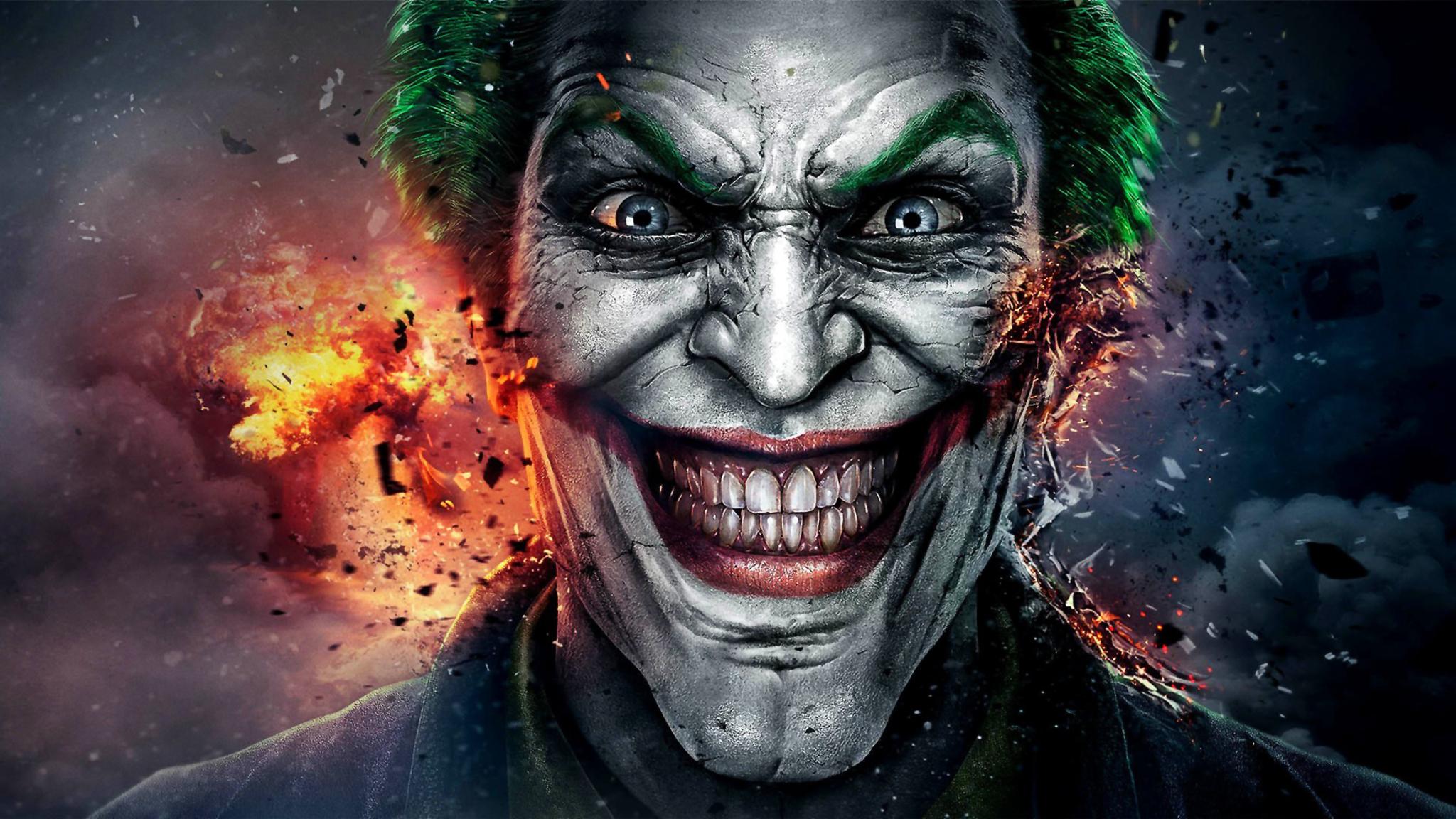 2048x1152 the joker fan art 2048x1152 resolution hd 4k for Joker wallpaper 4k