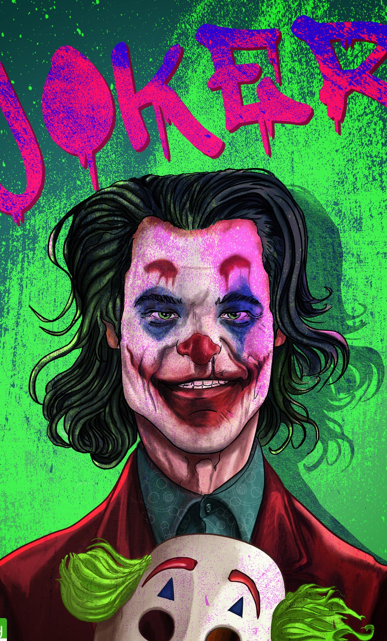 1280x2120 The Joker Joaquin Phoenix Artwork Iphone 6 Hd 4k