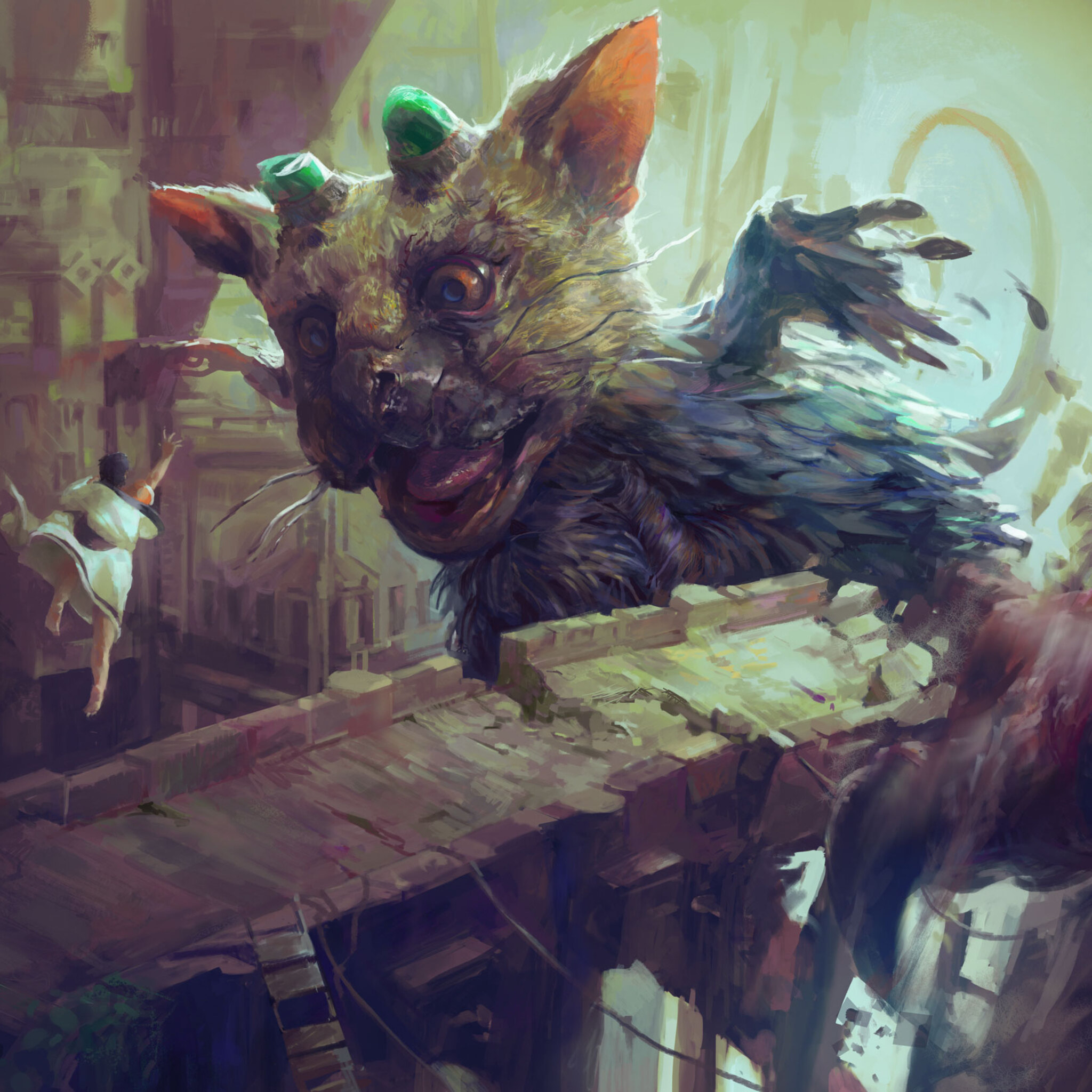 2048x2048 The Last Guardian Video Game Artwork Ipad Air Hd 4k