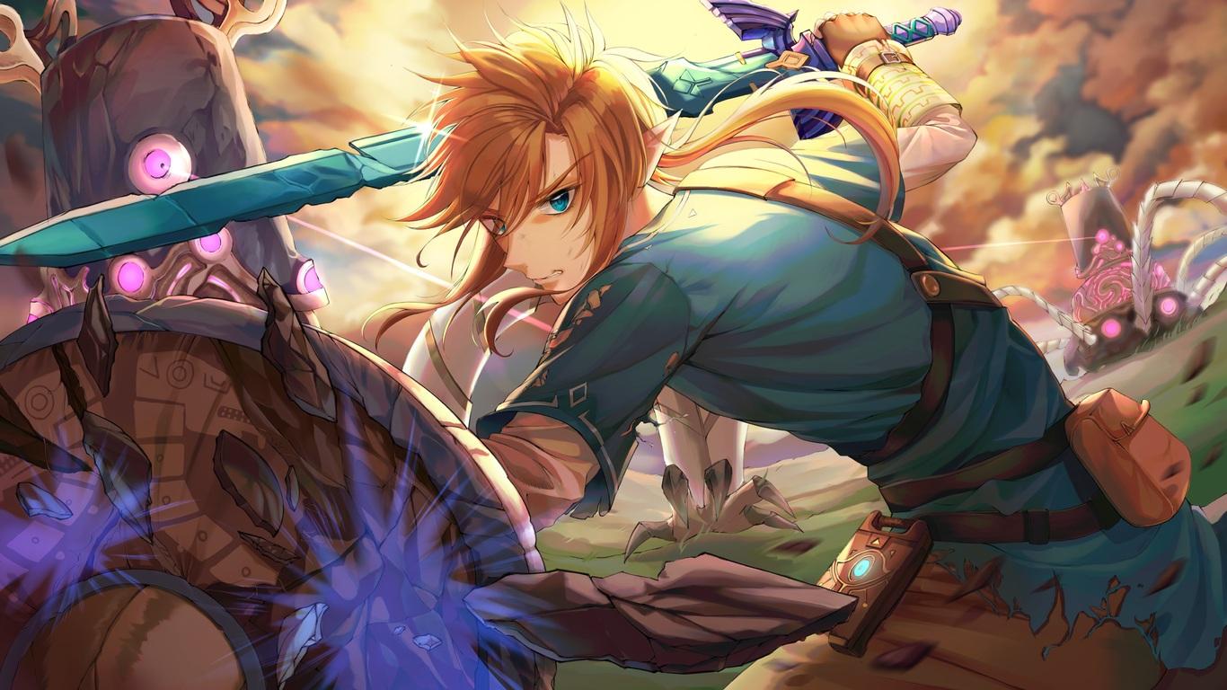 1366x768 The Legend Of Zelda Breath Of The Wild 4k 5k 1366x768