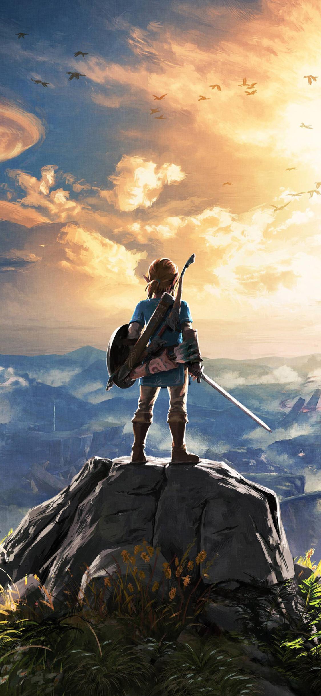 1125x2436 The Legend Of Zelda Breath Of The Wild 4k Iphone Xs