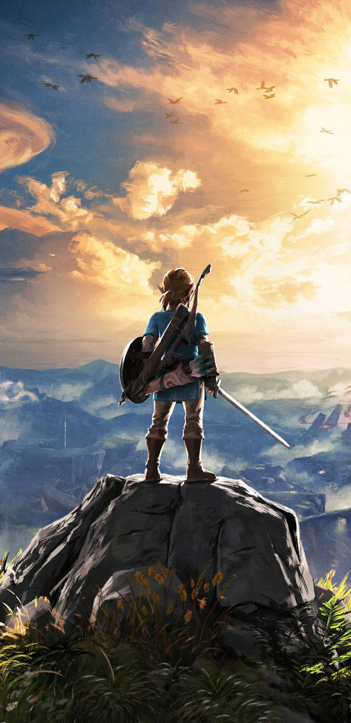 1440x2960 the legend of zelda breath of the wild 4k - Samsung s9 wallpaper 4k ...