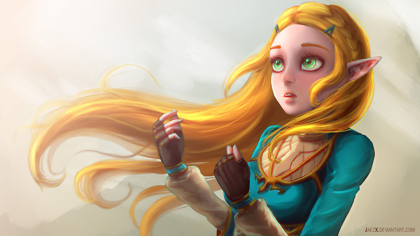 1366x768 The Legend Of Zelda Breath Of The Wild Artwork 1366x768