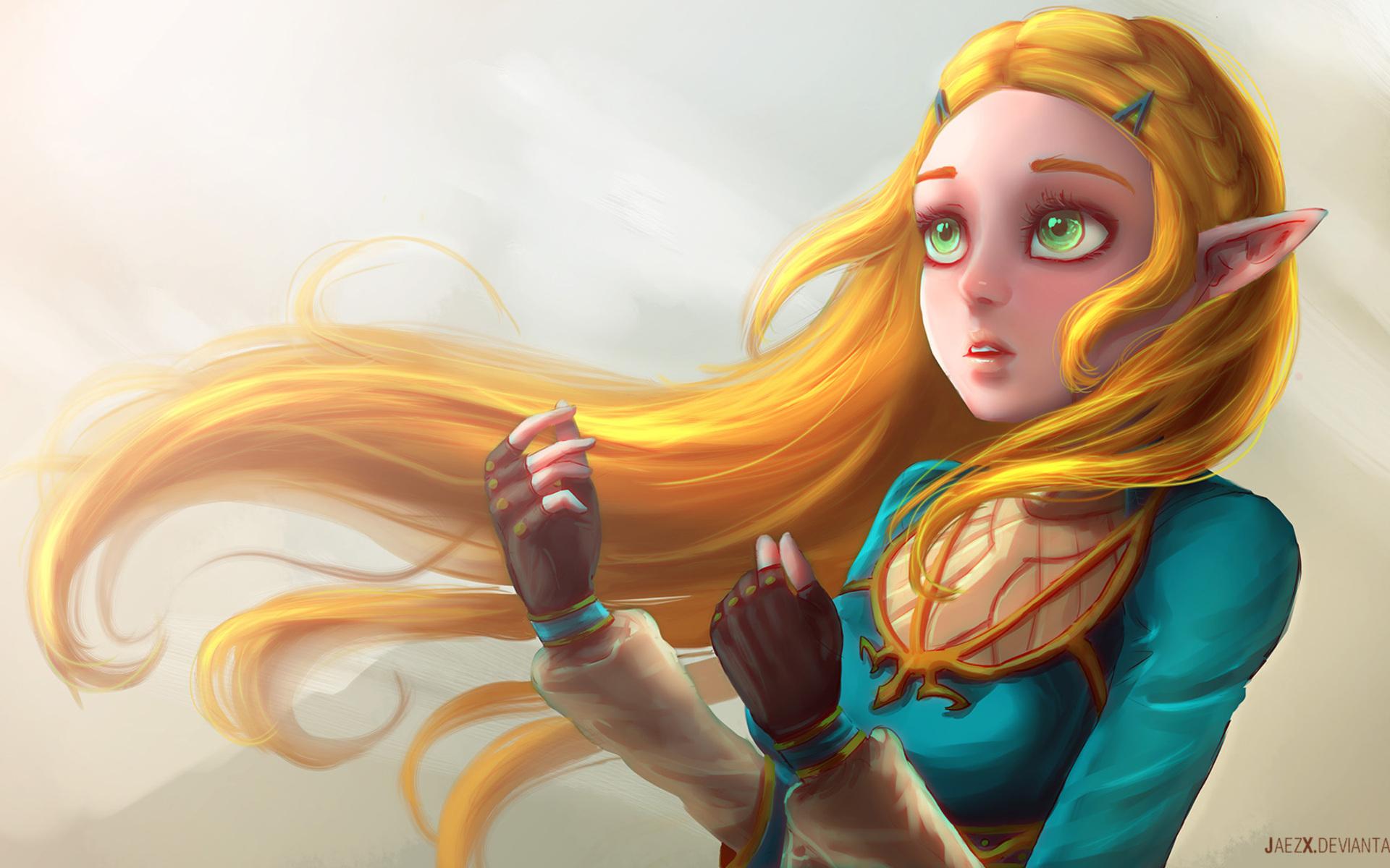 1920x1200 The Legend Of Zelda Breath Of The Wild Artwork 1080p