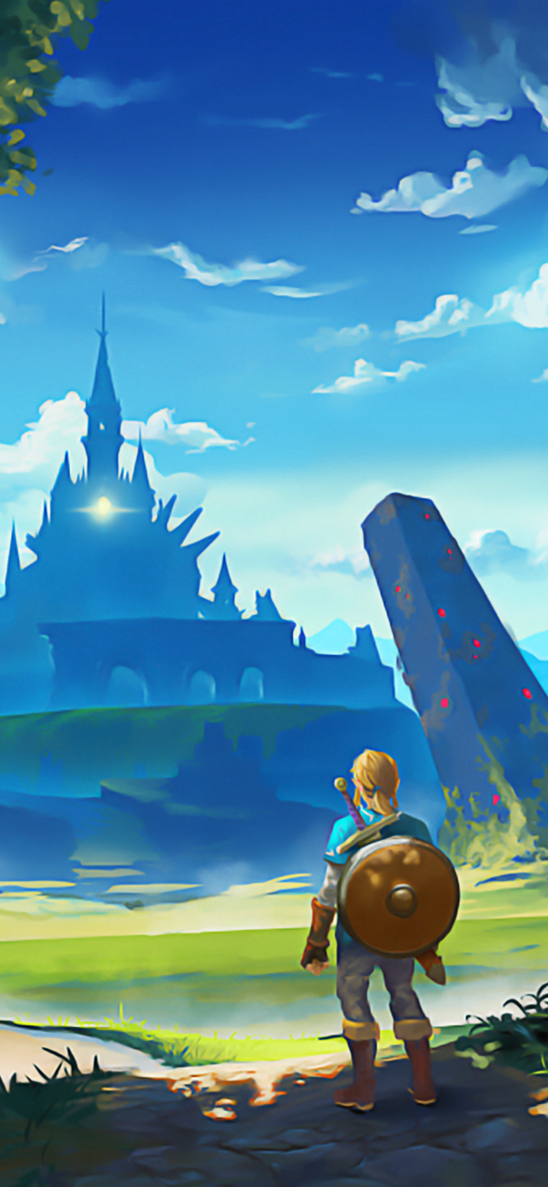 1125x2436 The Legend Of Zelda Breath Of The Wild Artworks Iphone