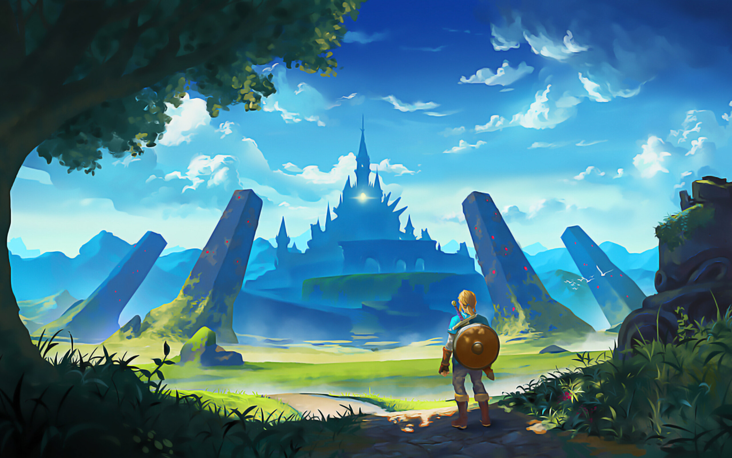 2560x1600 The Legend Of Zelda Breath Of The Wild Artworks 2560x1600 Resolution Hd 4k Wallpapers Images Backgrounds Photos And Pictures
