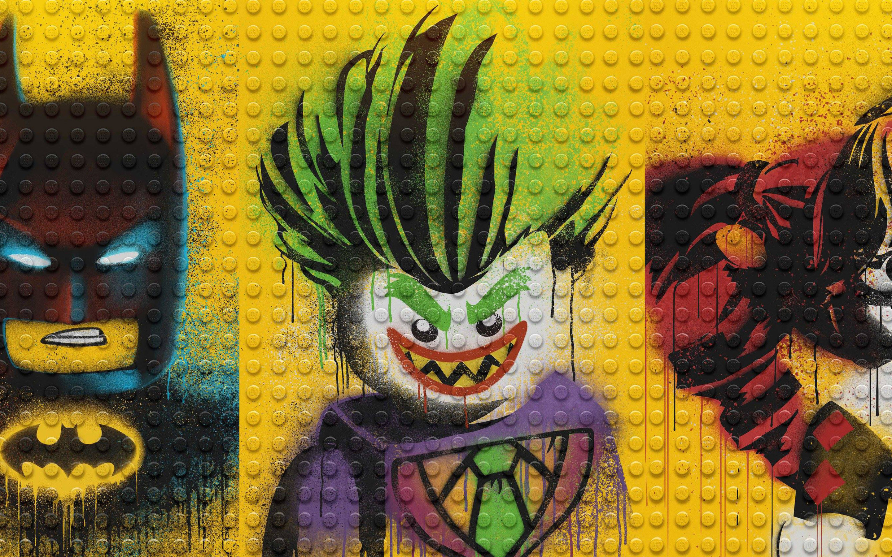 Download The Lego Batman Harley Quinn And Joker HD 4k Wallpapers In
