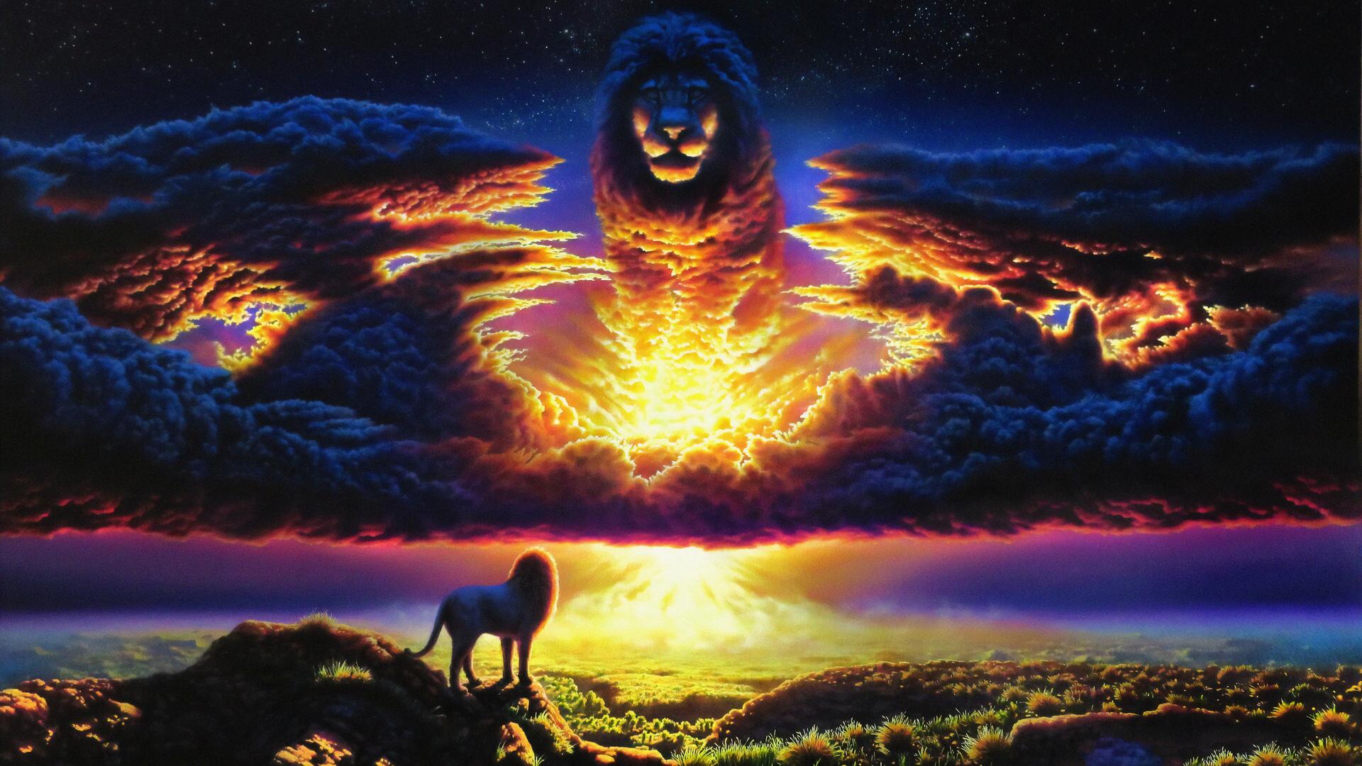 1920x1080 The Lion King 2019 Art Laptop Full Hd 1080p Hd 4k