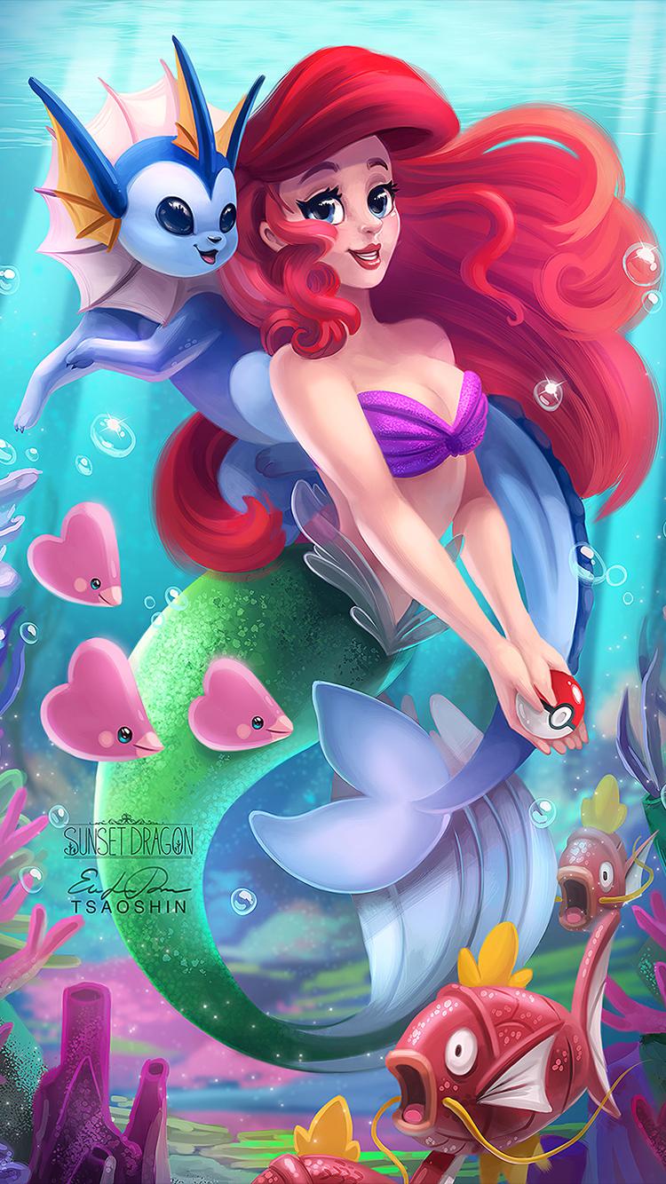 750x1334 The Little Mermaid Digital Art Iphone 6 Iphone 6s
