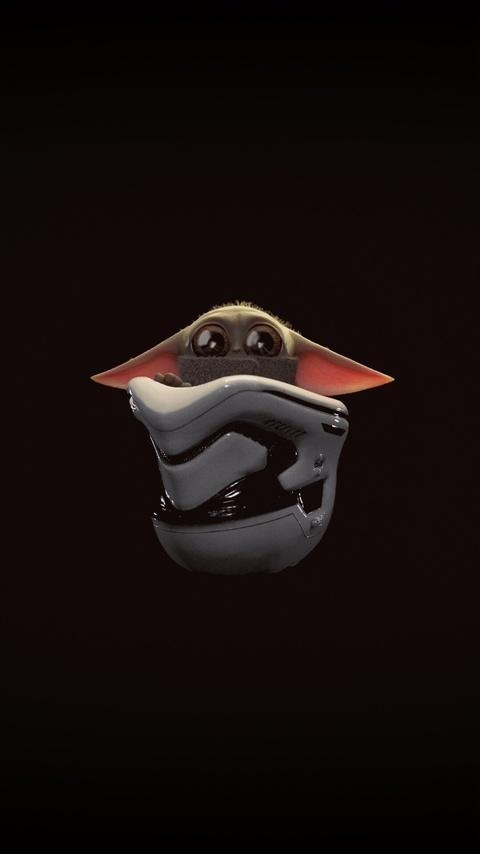 480x854 The Mandalorian Baby Yoda Minimal 4k Android One ...