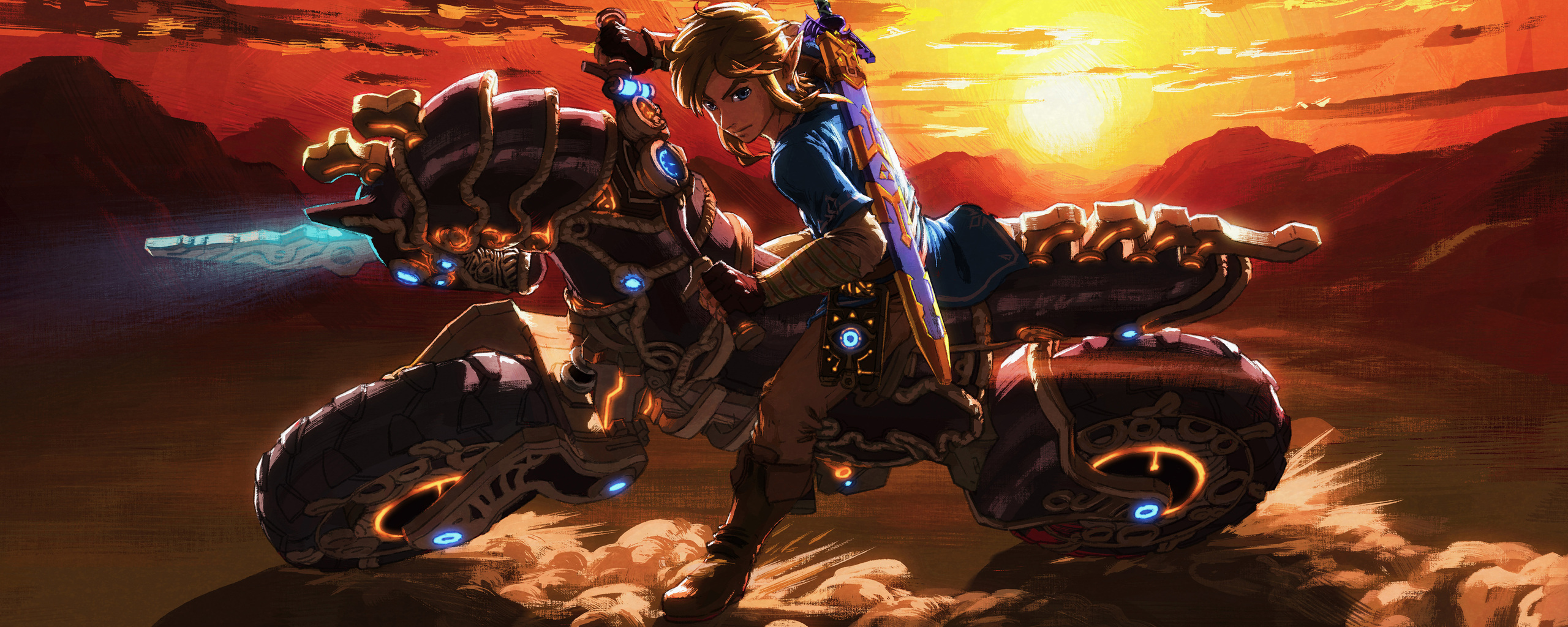 Zelda Breath Of The Wild Master Cycle: 2560x1024 The Master Cycle Zero The Legend Of Zelda Breath