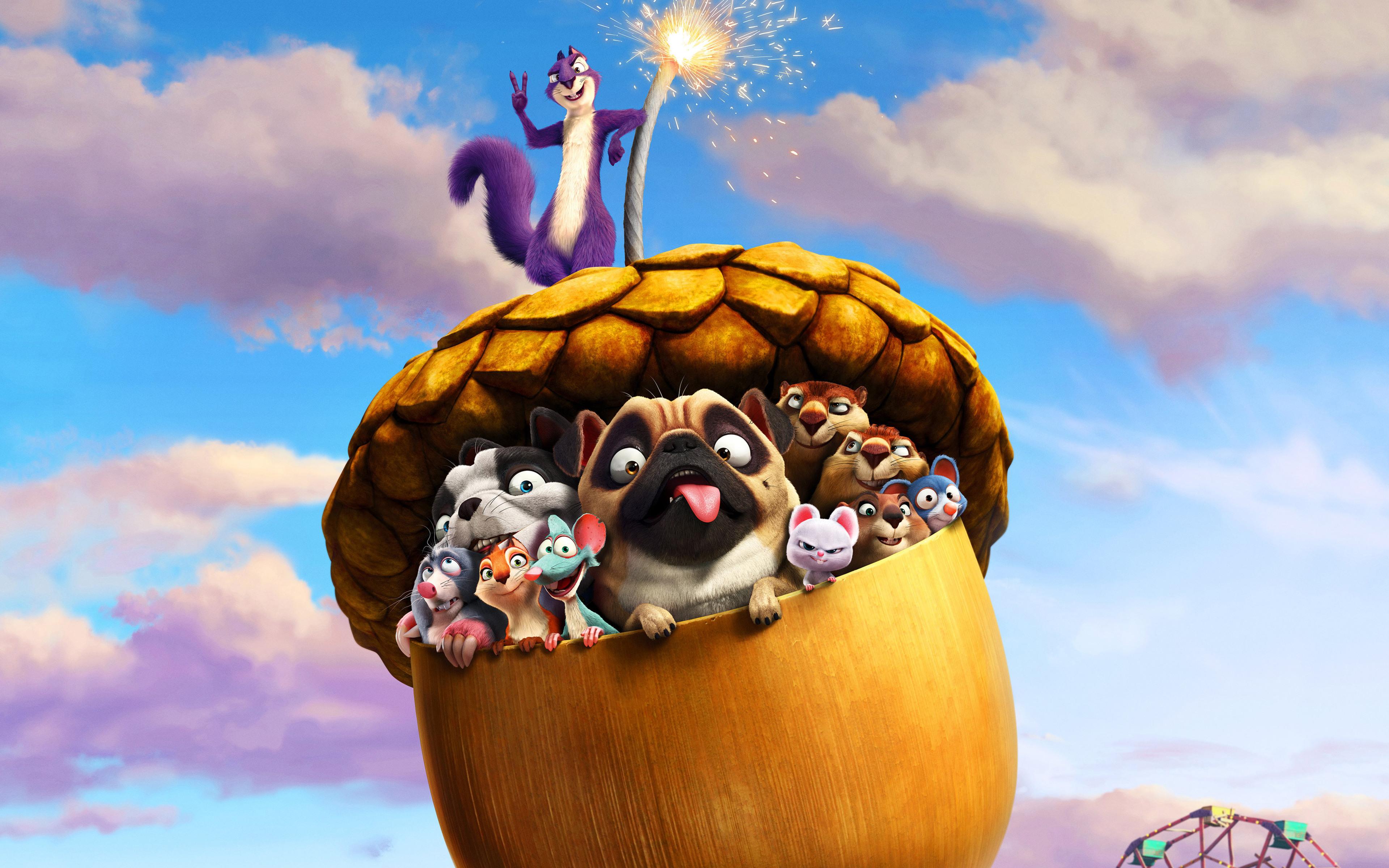 The Nut Job Movie Wallpaper 3840x2400 The Nut Job ...