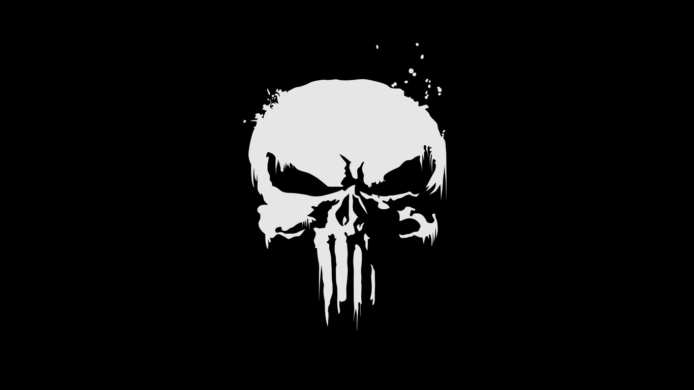 1366x768 the punisher logo 4k 1366x768 resolution hd 4k wallpapers
