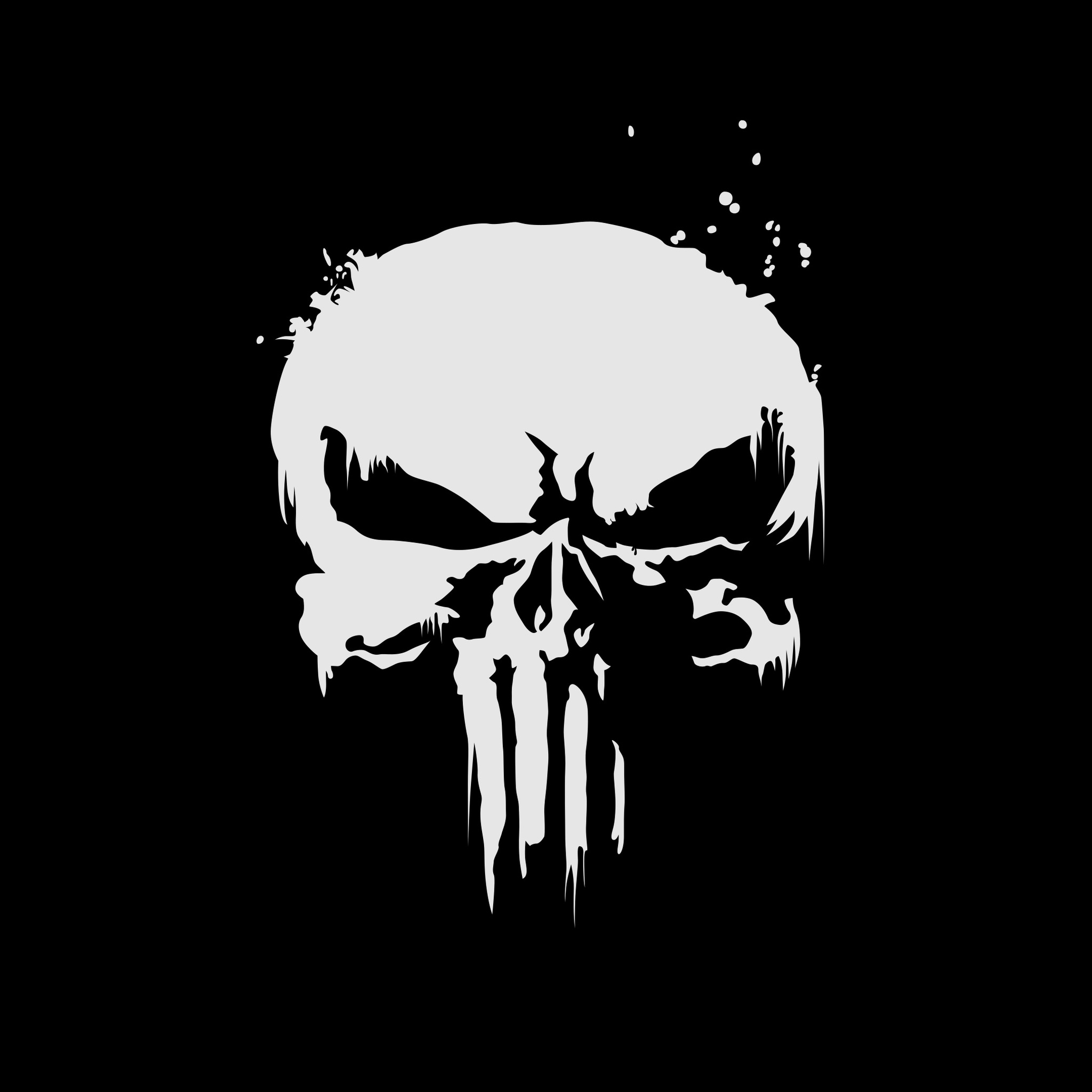 2048x2048 The Punisher Logo 4k Ipad Air HD 4k Wallpapers