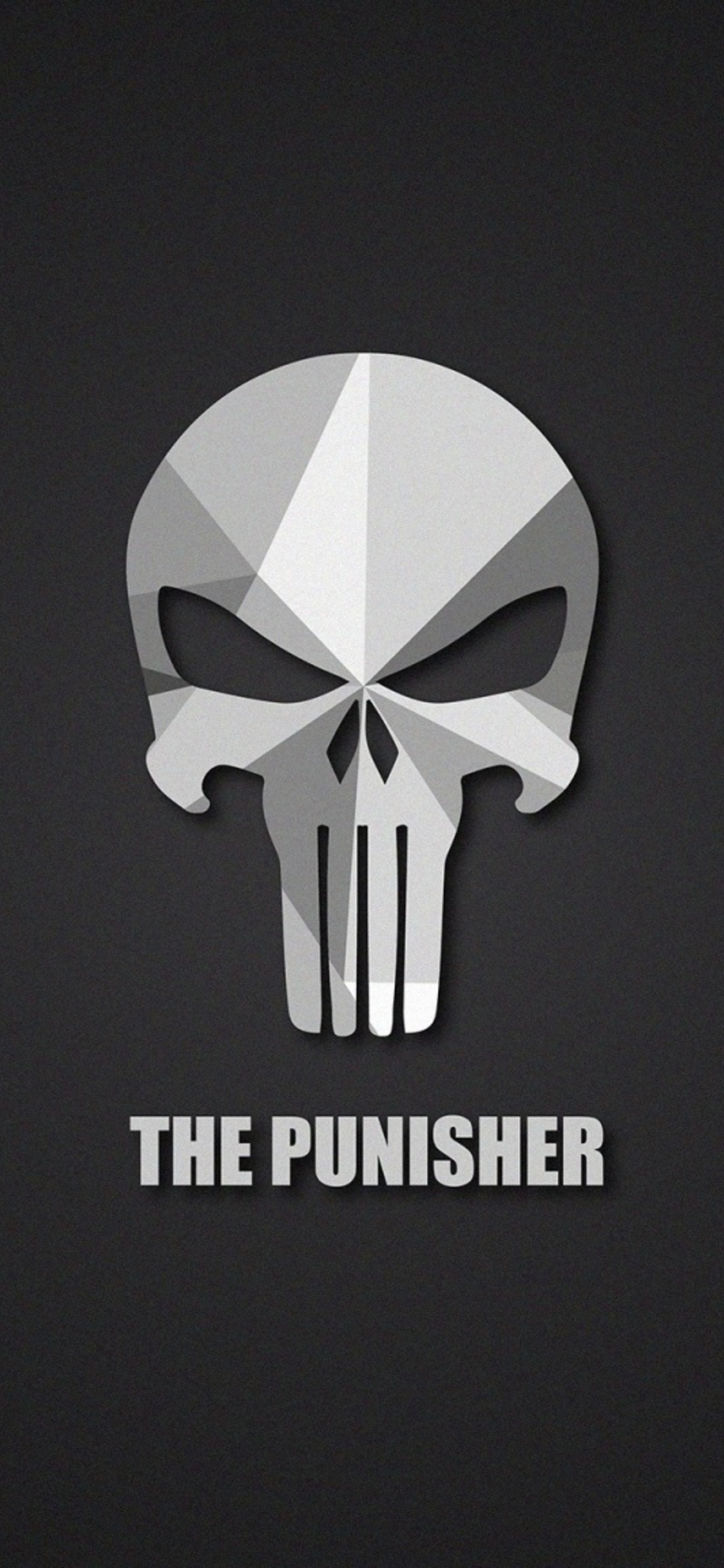 1242x2688 The Punisher Material Logo Iphone Xs Max Hd 4k Wallpapers