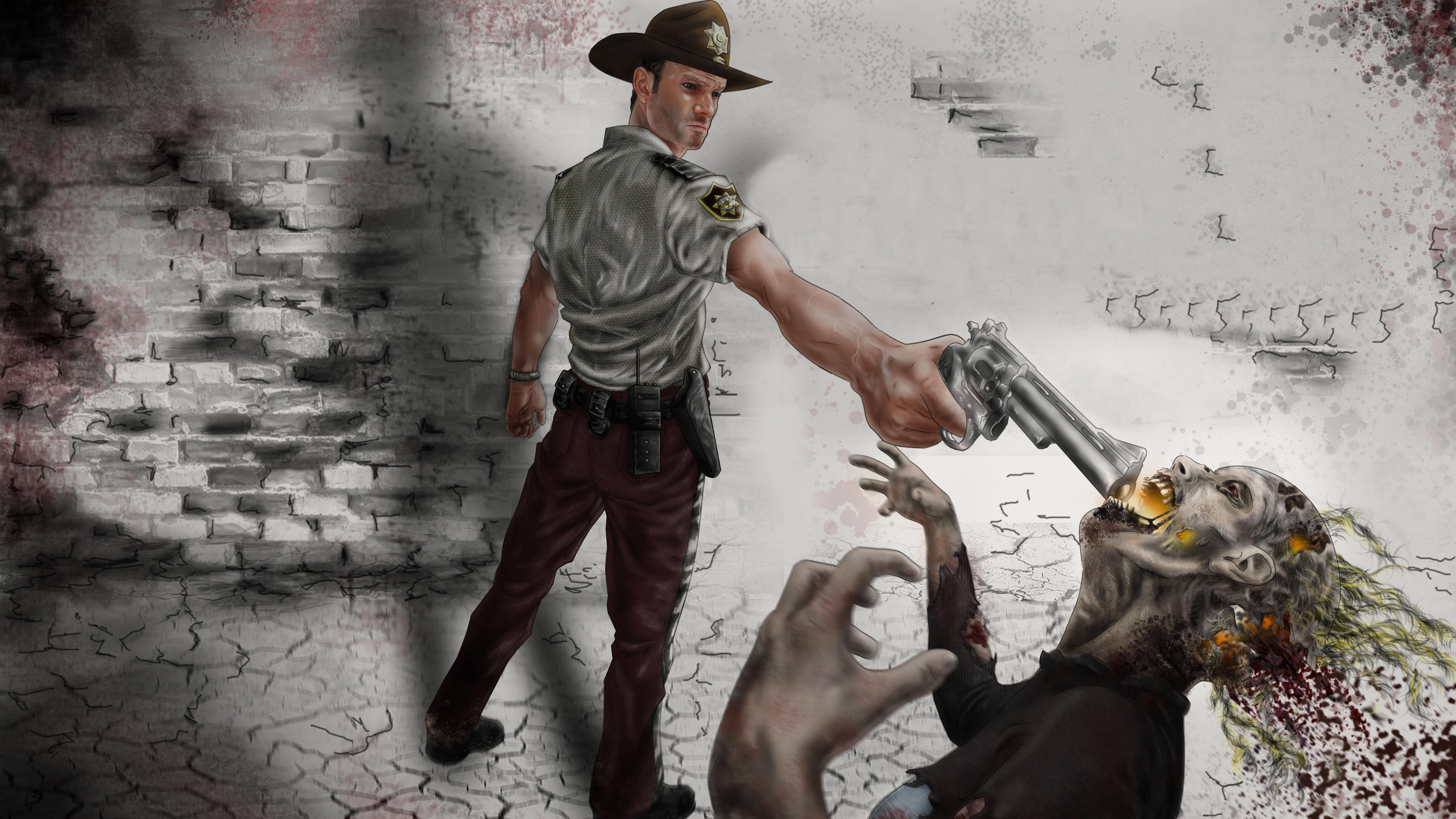 7680x4320 The Walking Dead 10k Artwork 8k Hd 4k Wallpapers Images