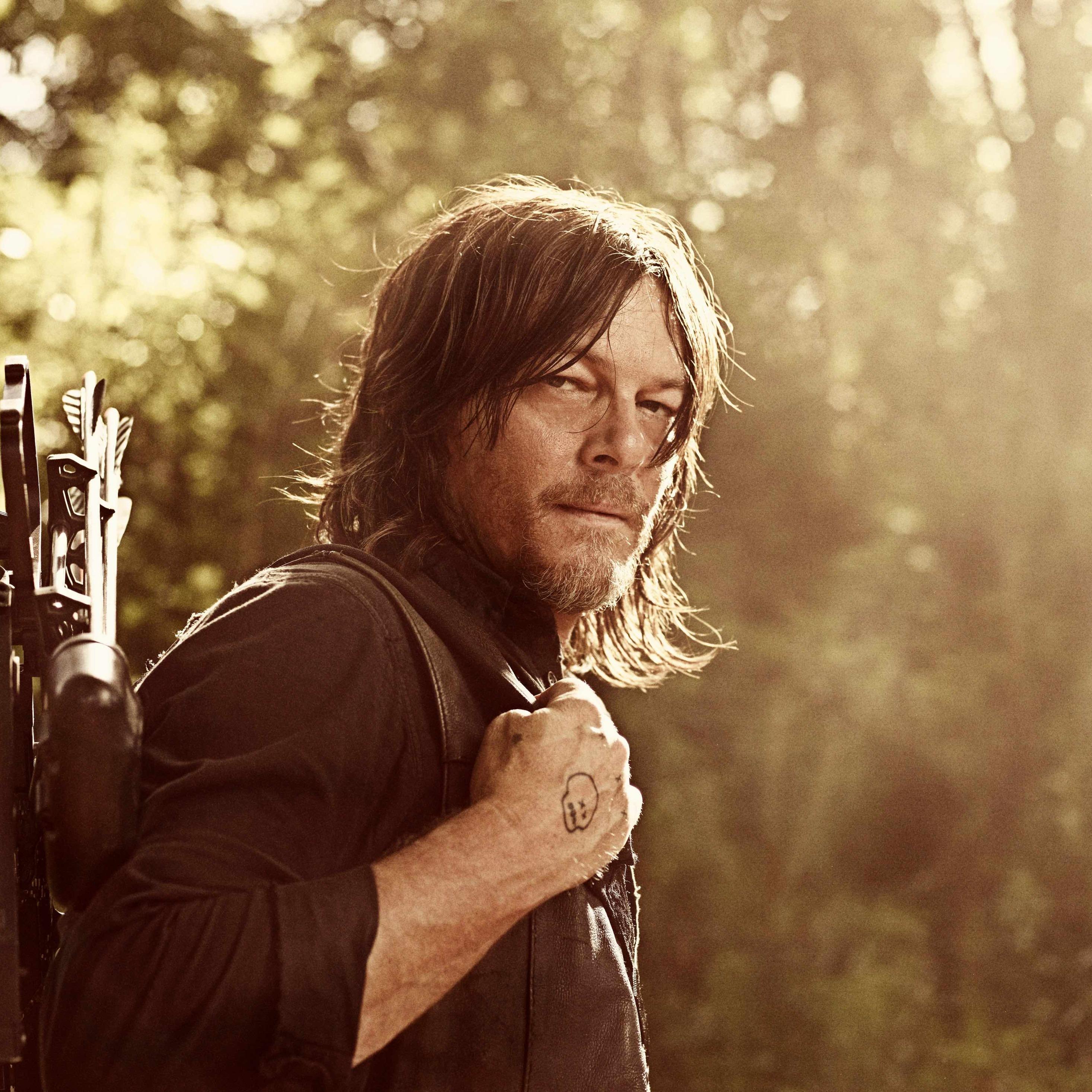 2932x2932 The Walking Dead Season 8 2018 Norman Reedus Ipad Pro