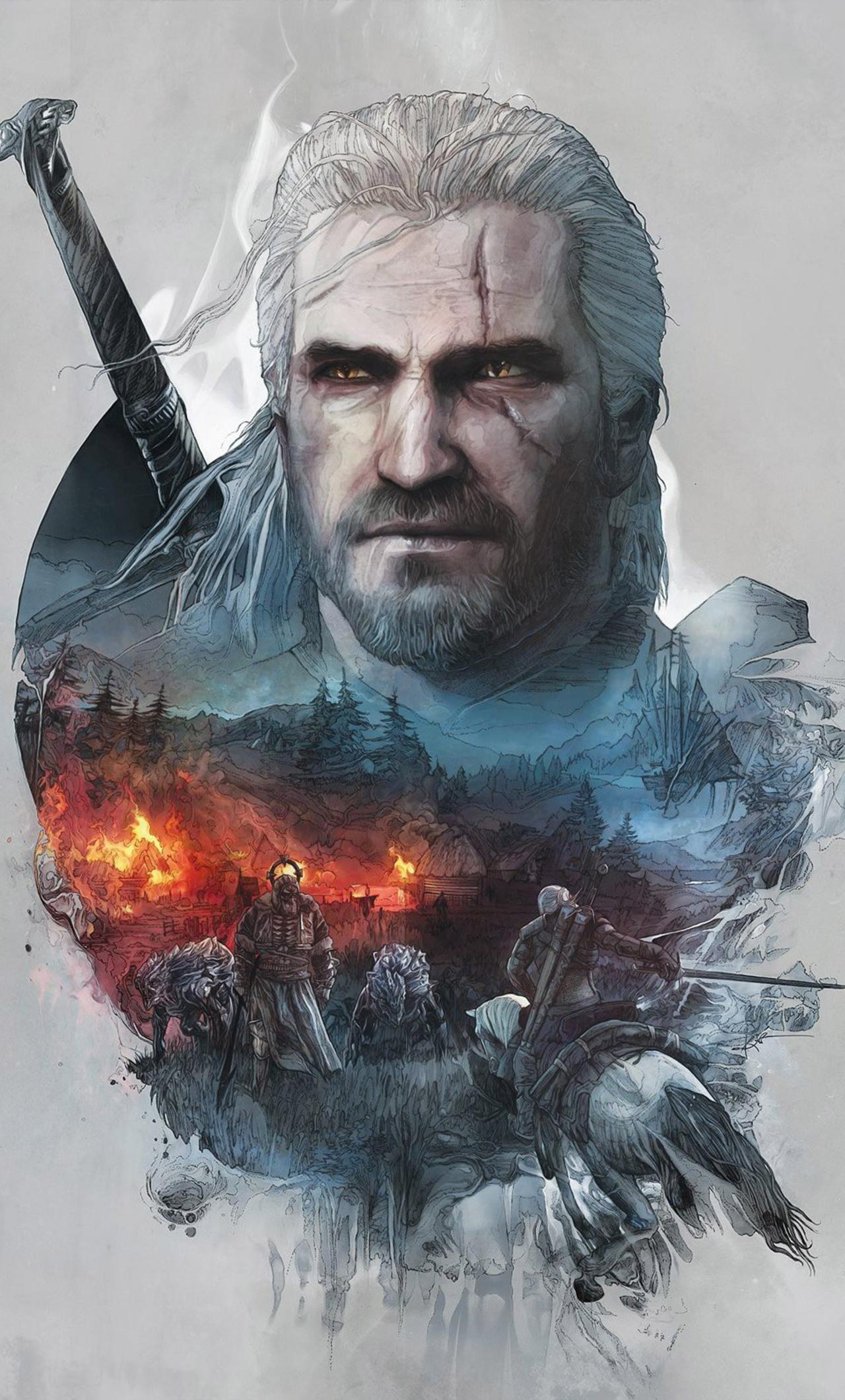 1280x2120 The Witcher 3 Geralt Of Rivia Artwork Iphone 6 Hd 4k