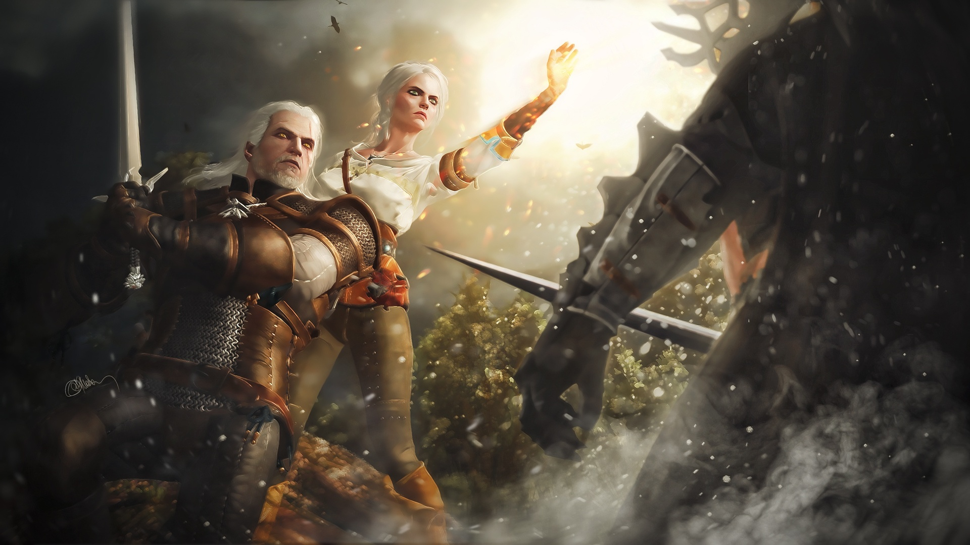 1920x1080 The Witcher 3 Wild Hunt Game Art Laptop Full Hd 1080p Hd