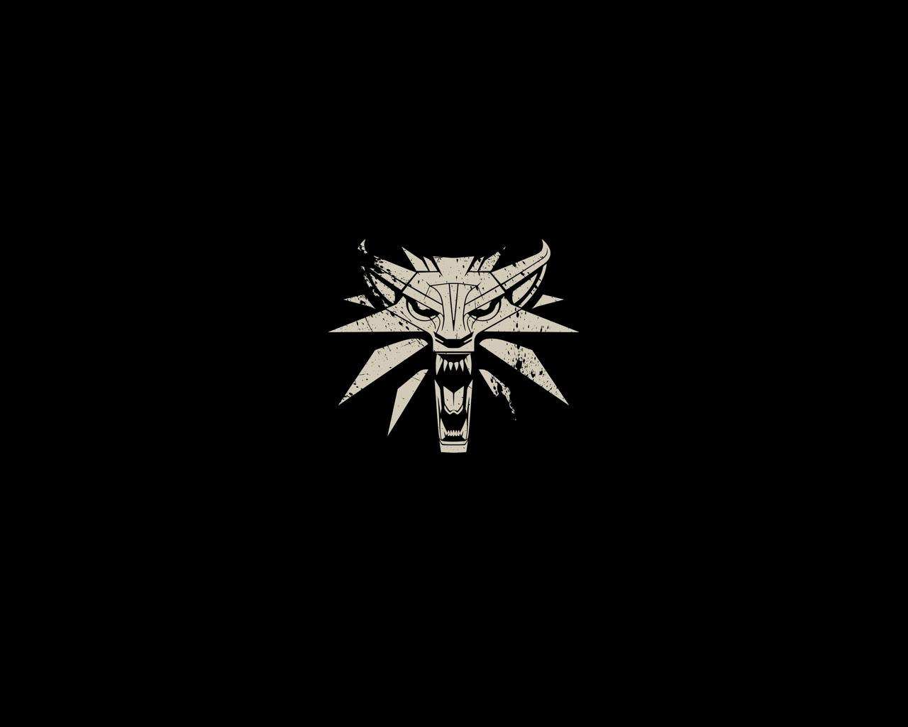 1280x1024 The Witcher 3 Wild Hunt Minimalism Logo ...