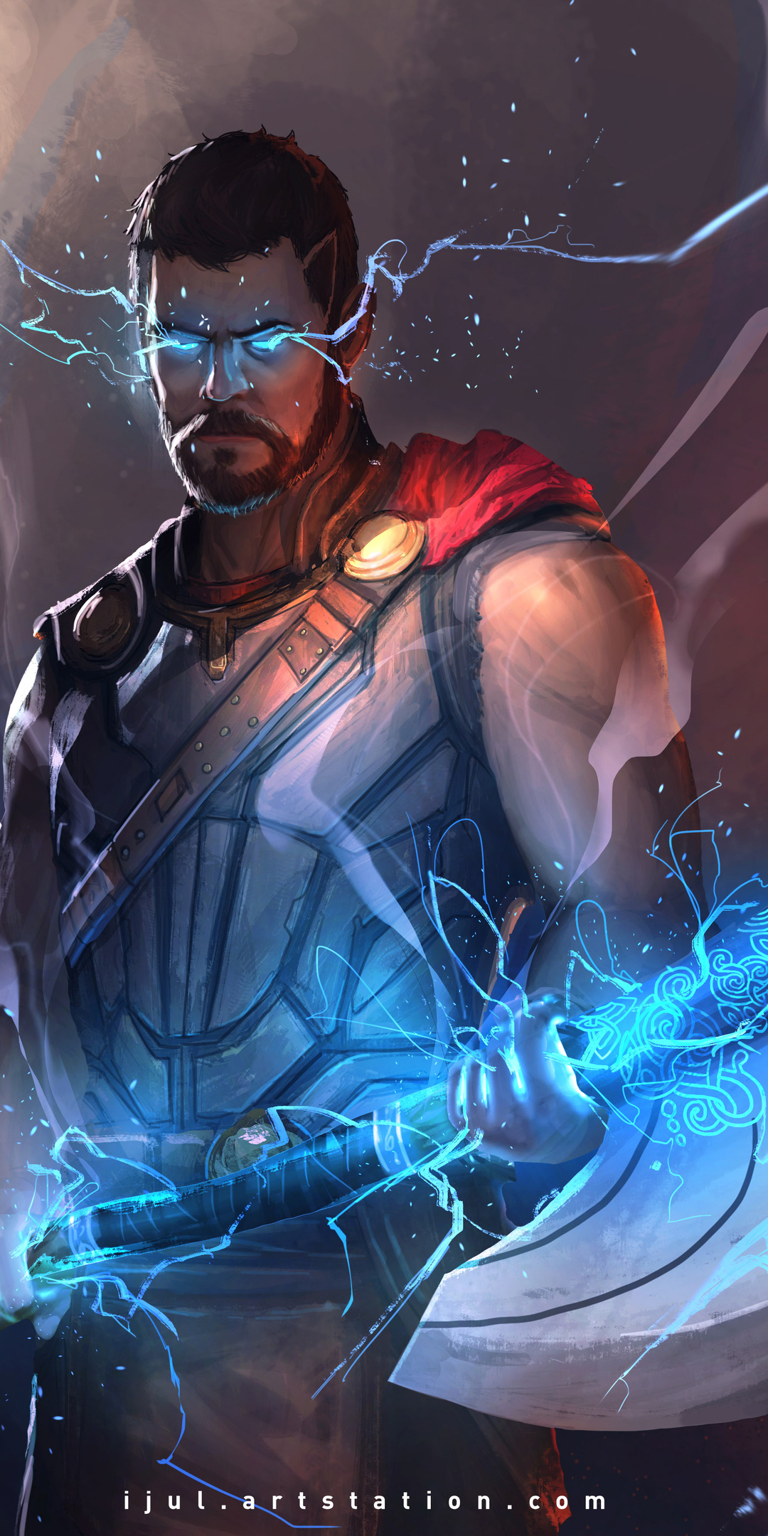 1080x2160 Thor Avengers 4 Artwork One Plus 5t Honor 7x Honor View 10