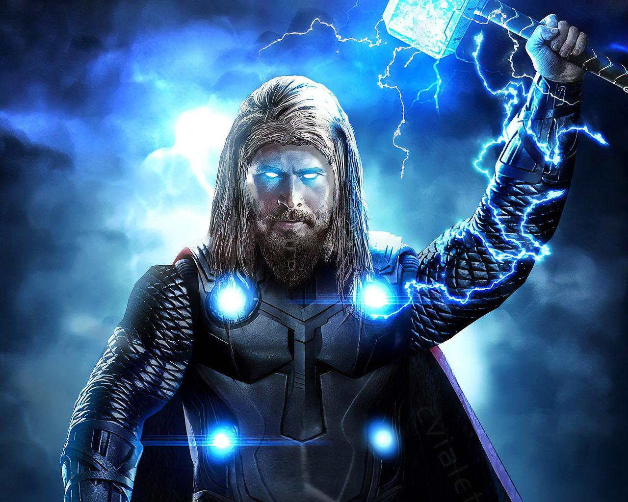 1280x1024 Thor Avengers Endgame Full Power 1280x1024 ...