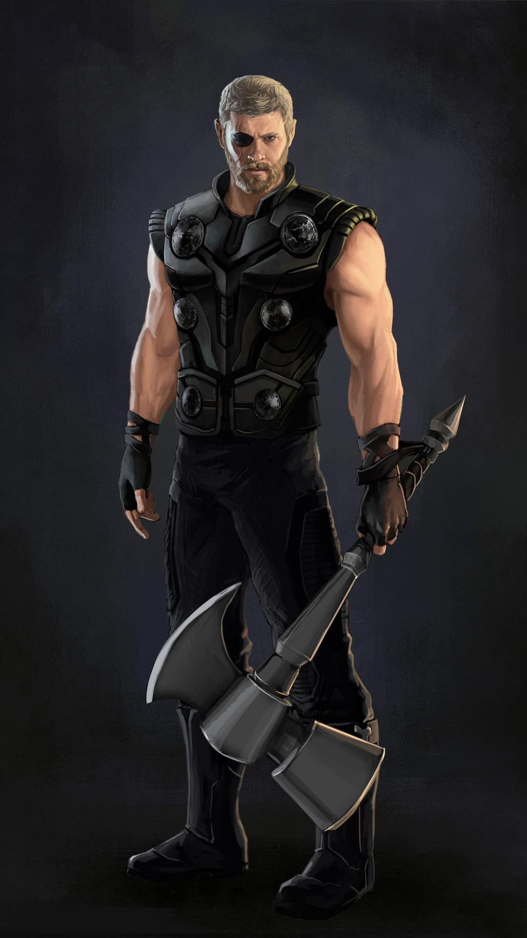 Thor Avengers Infinity War Artwork 15