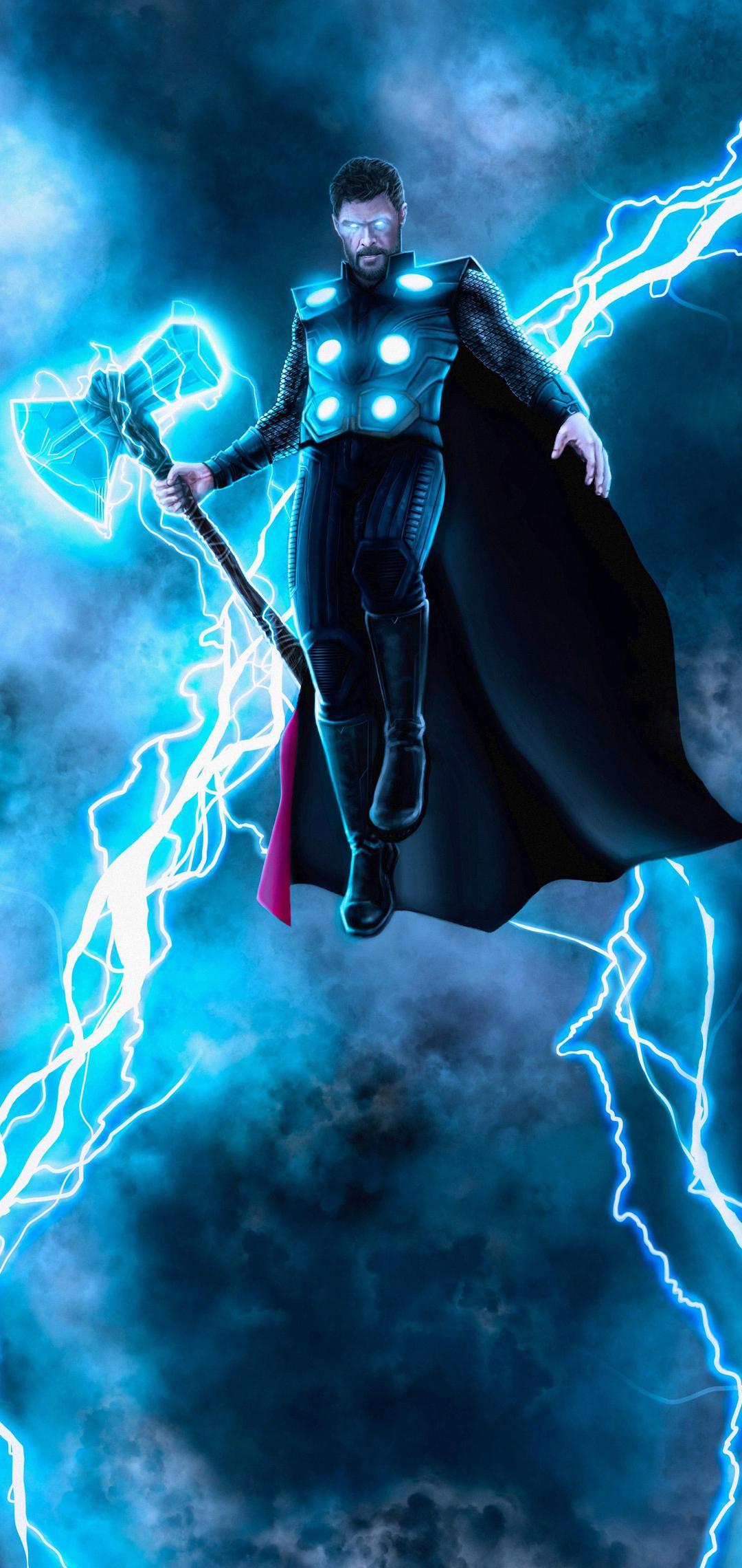 1080x2280 Thor God Of Thunder New Artwork One Plus 6 ...