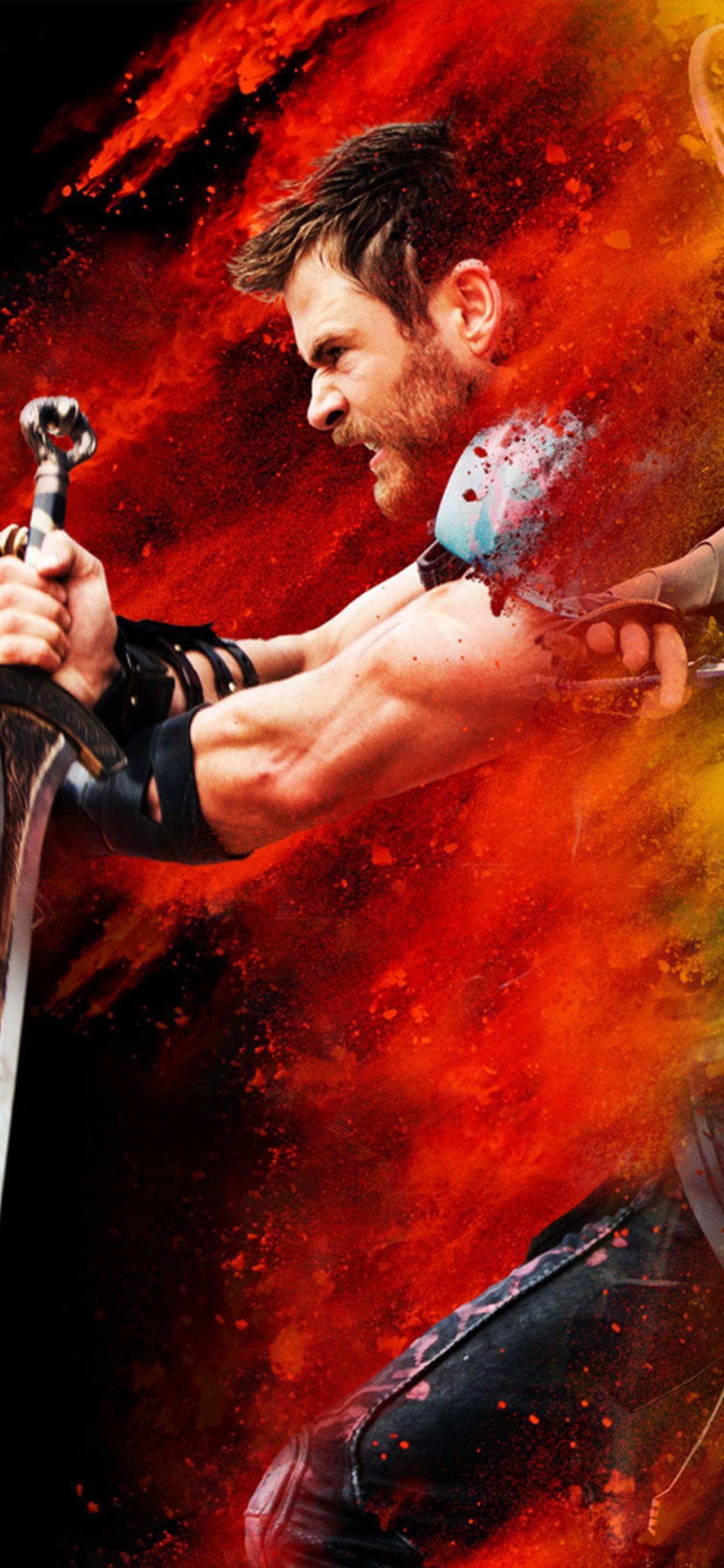 1242x2688 Thor Loki Hulk Thor Ragnarok Iphone Xs Max Hd 4k