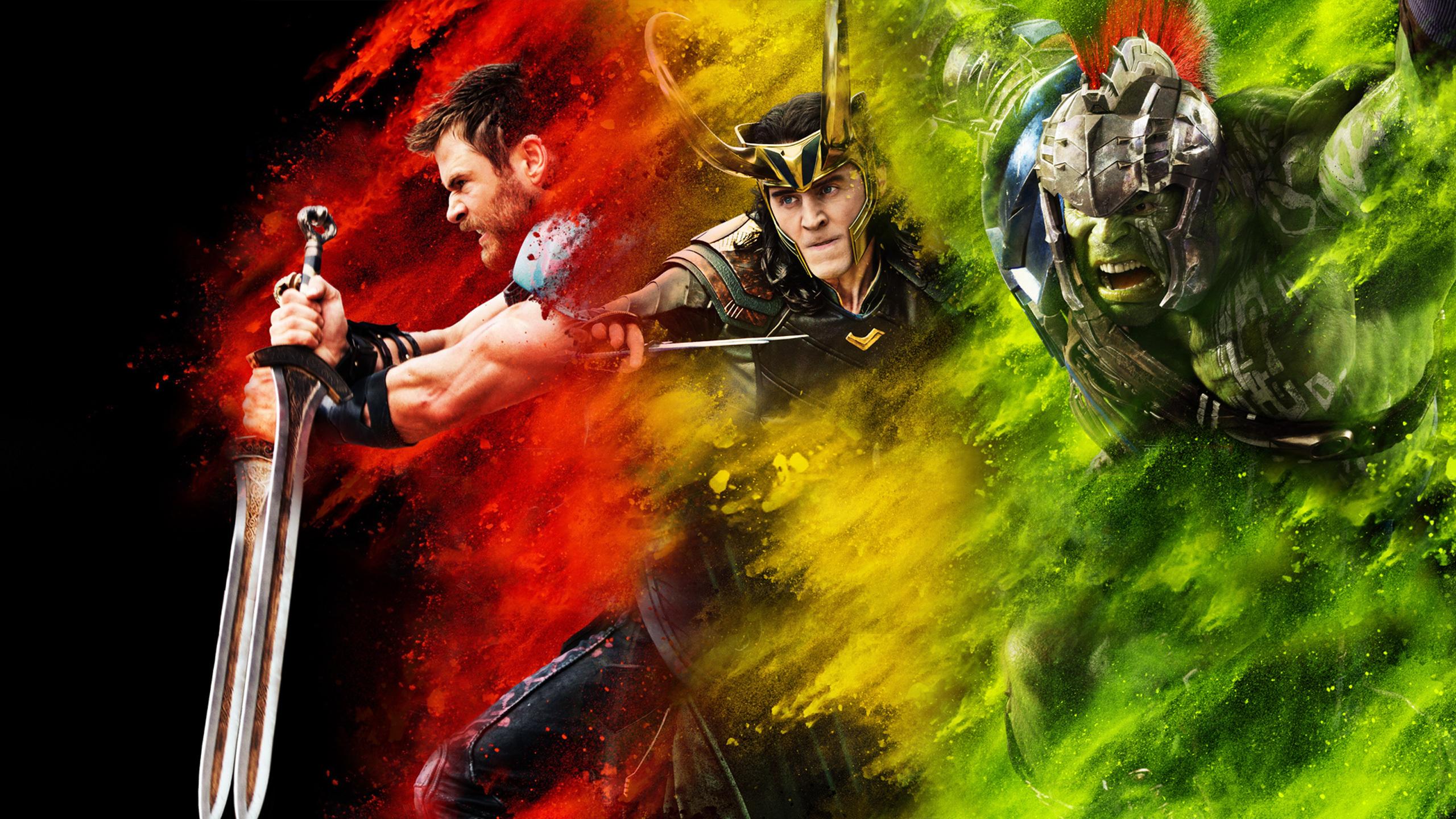 2560x1440 Thor Loki Hulk Thor Ragnarok 1440p Resolution Hd 4k