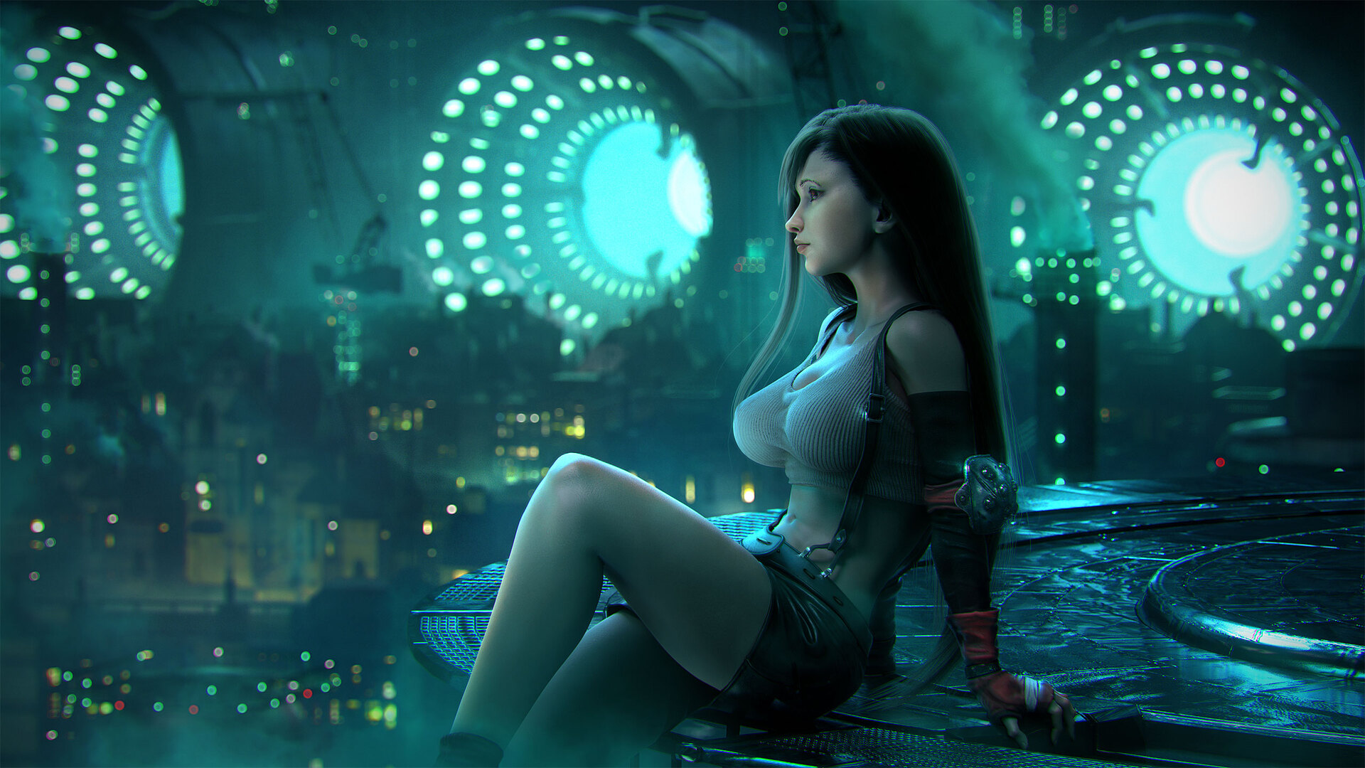 1920x1080 Tifa Lockhart Final Fantasy Artwork Laptop Full
